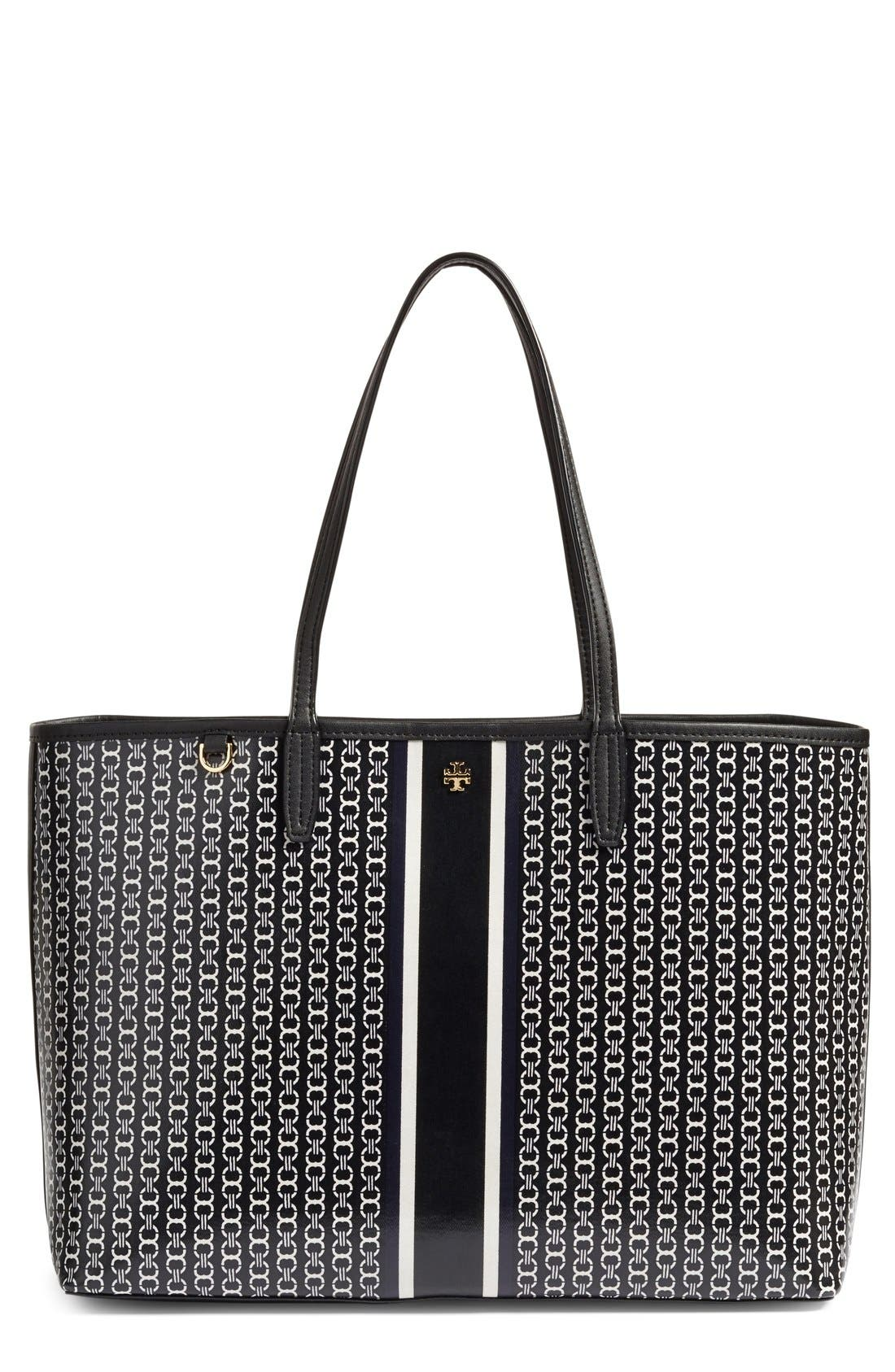 Main Image - Tory Burch Gemini Link Coated Canvas Tote