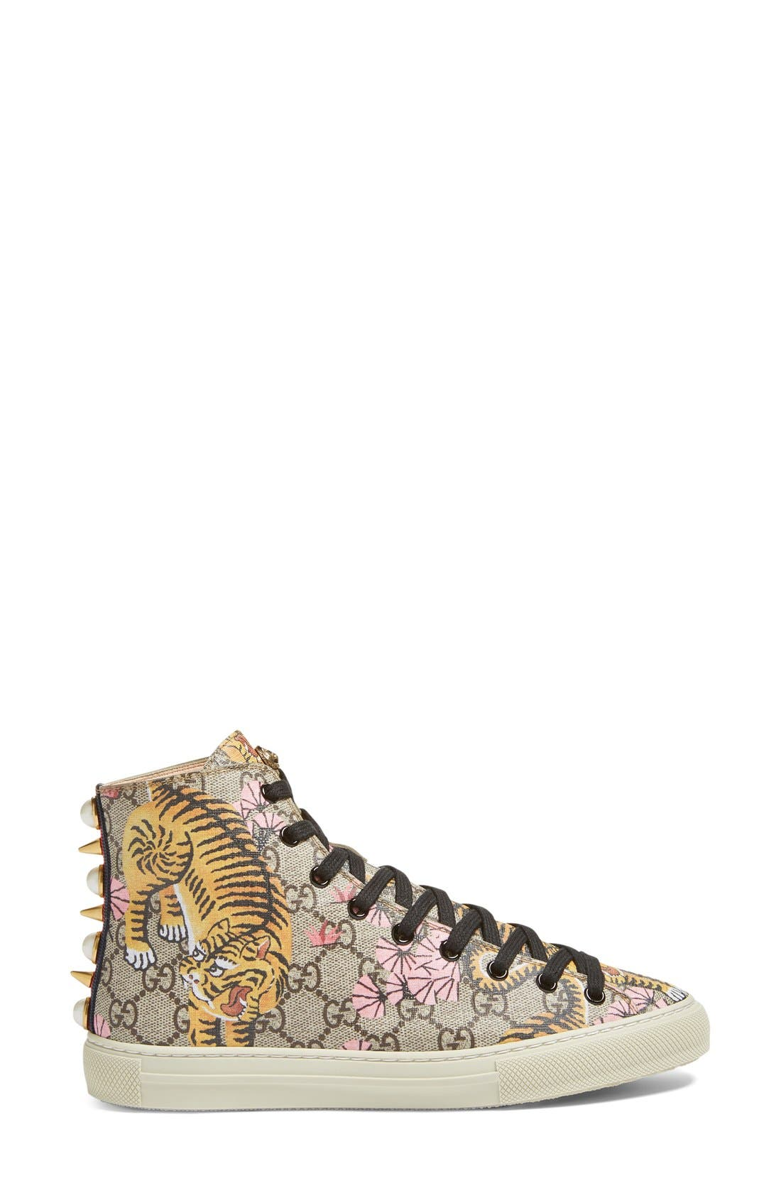 Alternate Image 4  - Gucci Major Tiger High Top Sneaker (Women)