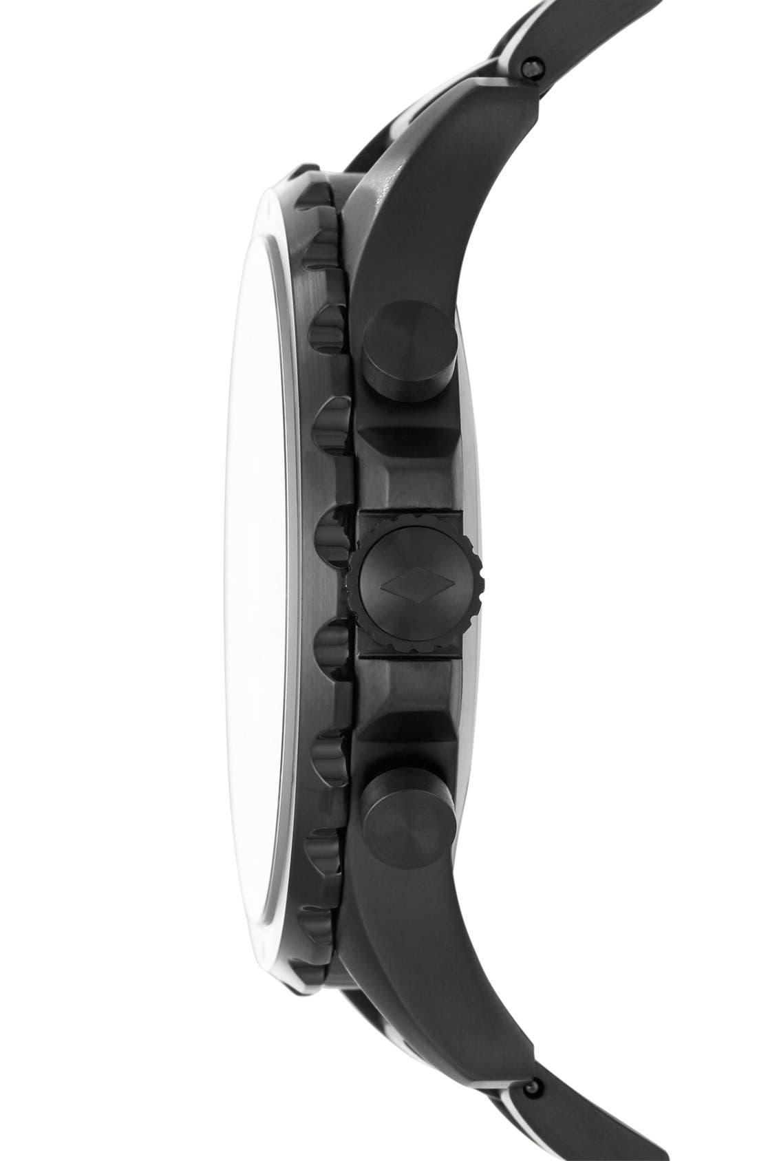 Nate Bracelet Hybrid Smart Watch, 50mm,                             Alternate thumbnail 3, color,                             Black