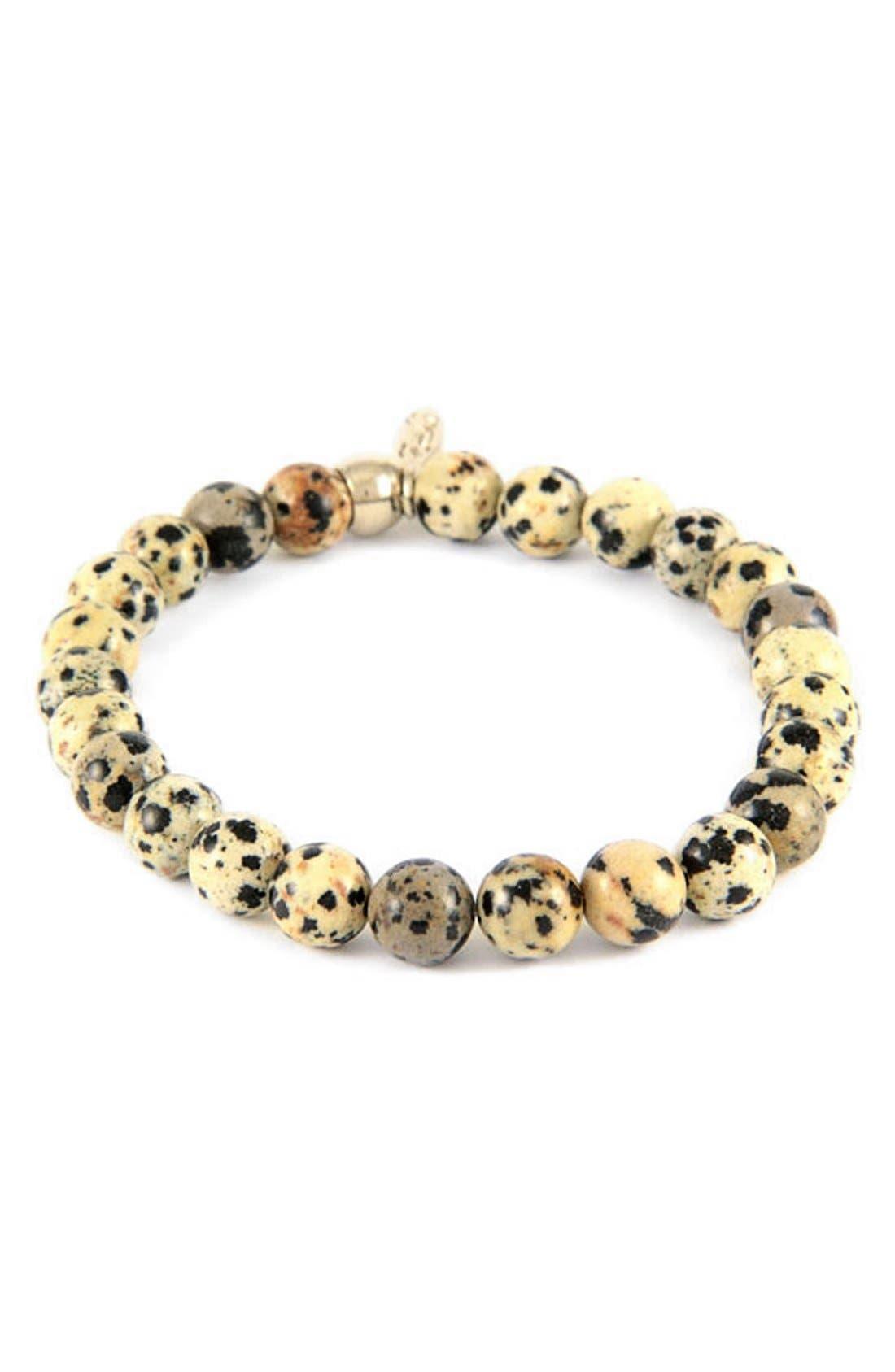 Dalmatian Jasper Bead Bracelet,                         Main,                         color, Dalmatian