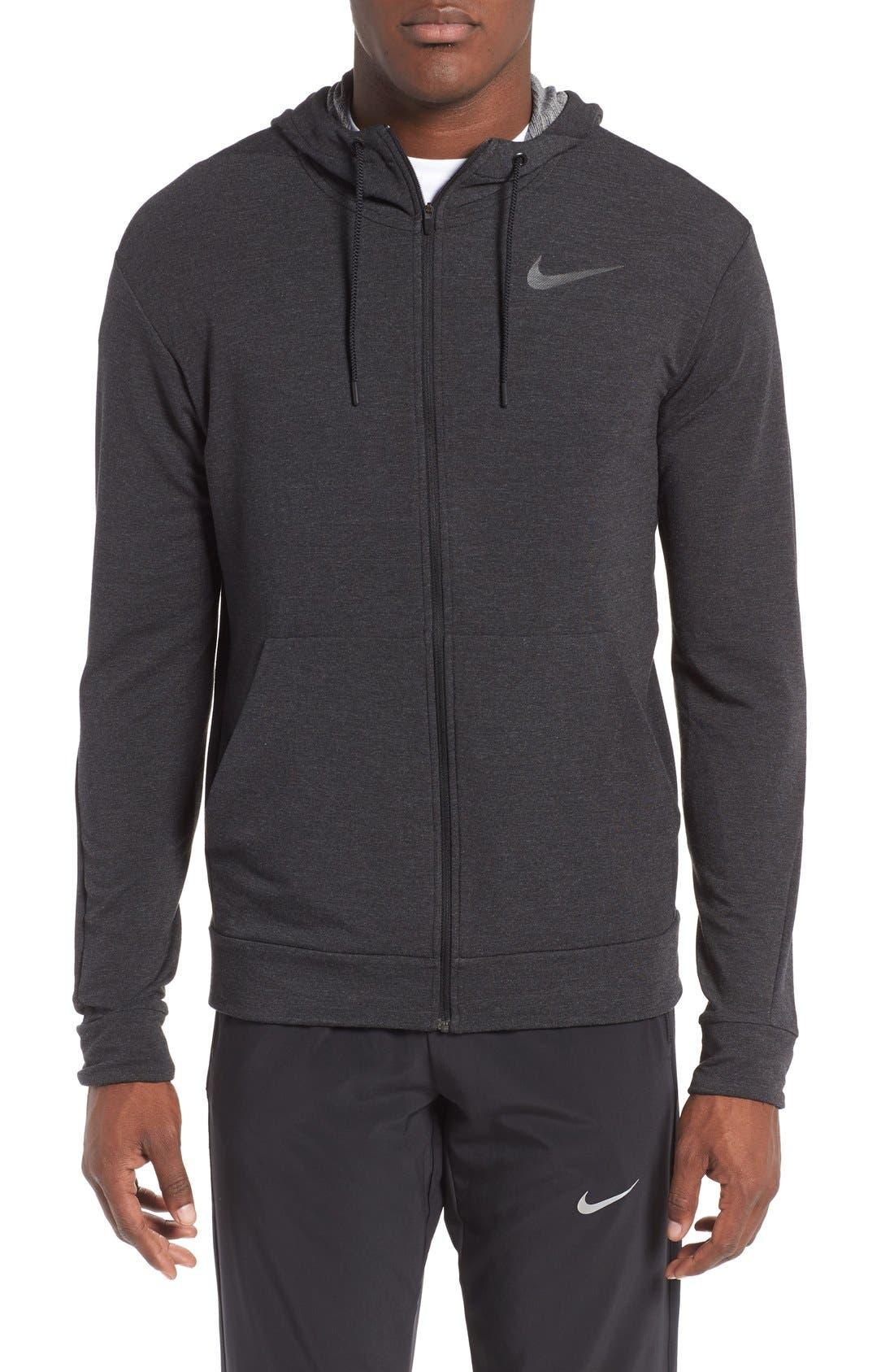 Main Image - Nike Dri-Fit Training Fleece Hooded Sweatshirt