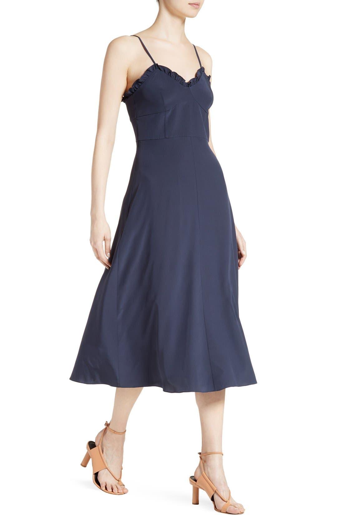 Alternate Image 4  - Tibi Ruffled Silk Midi Dress