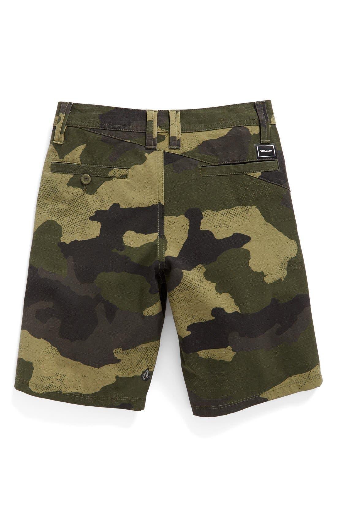Camo Hybrid Shorts,                             Alternate thumbnail 3, color,                             Light Army