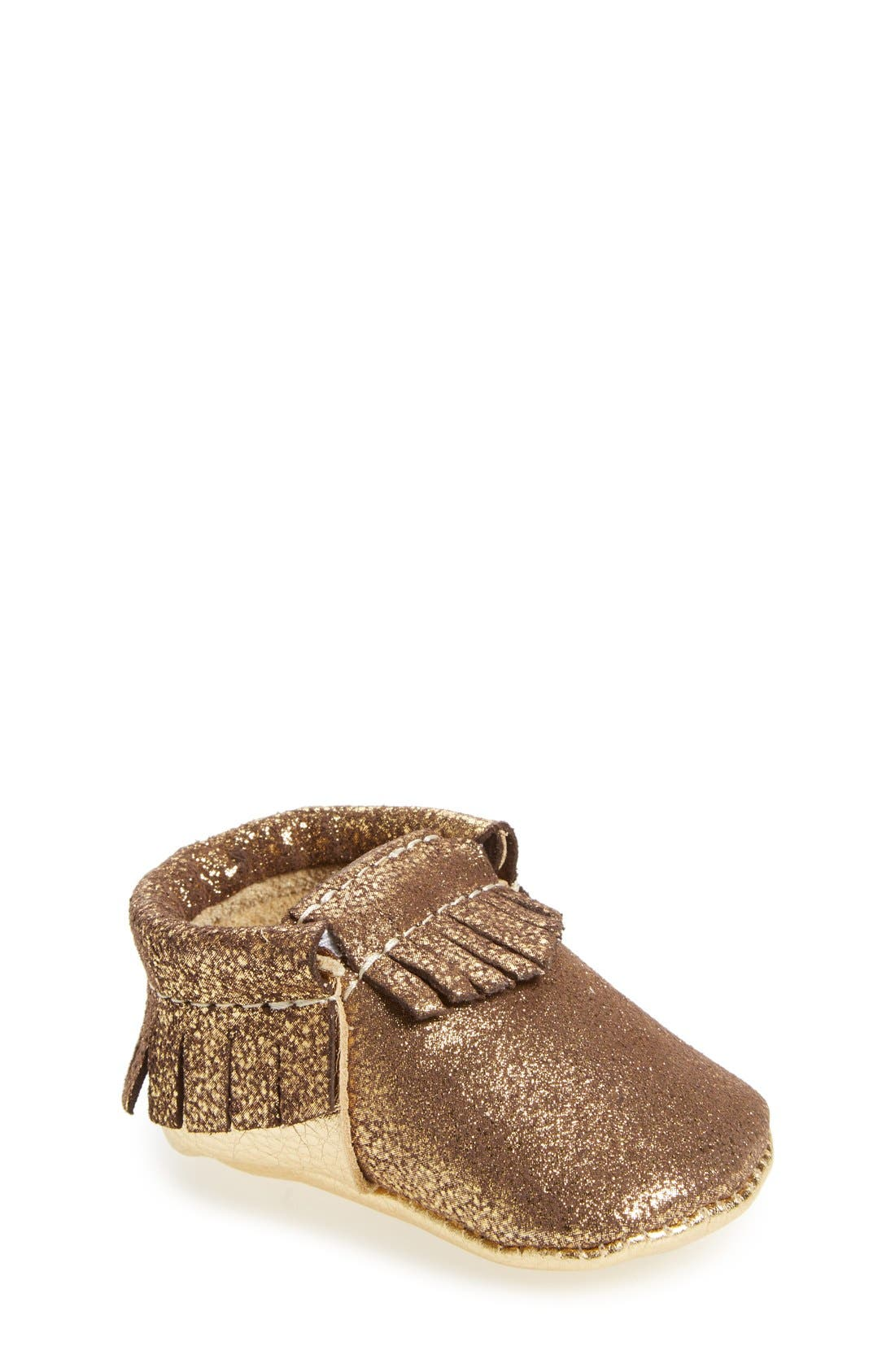 FRESHLY PICKED Metallic Leather Moccasin