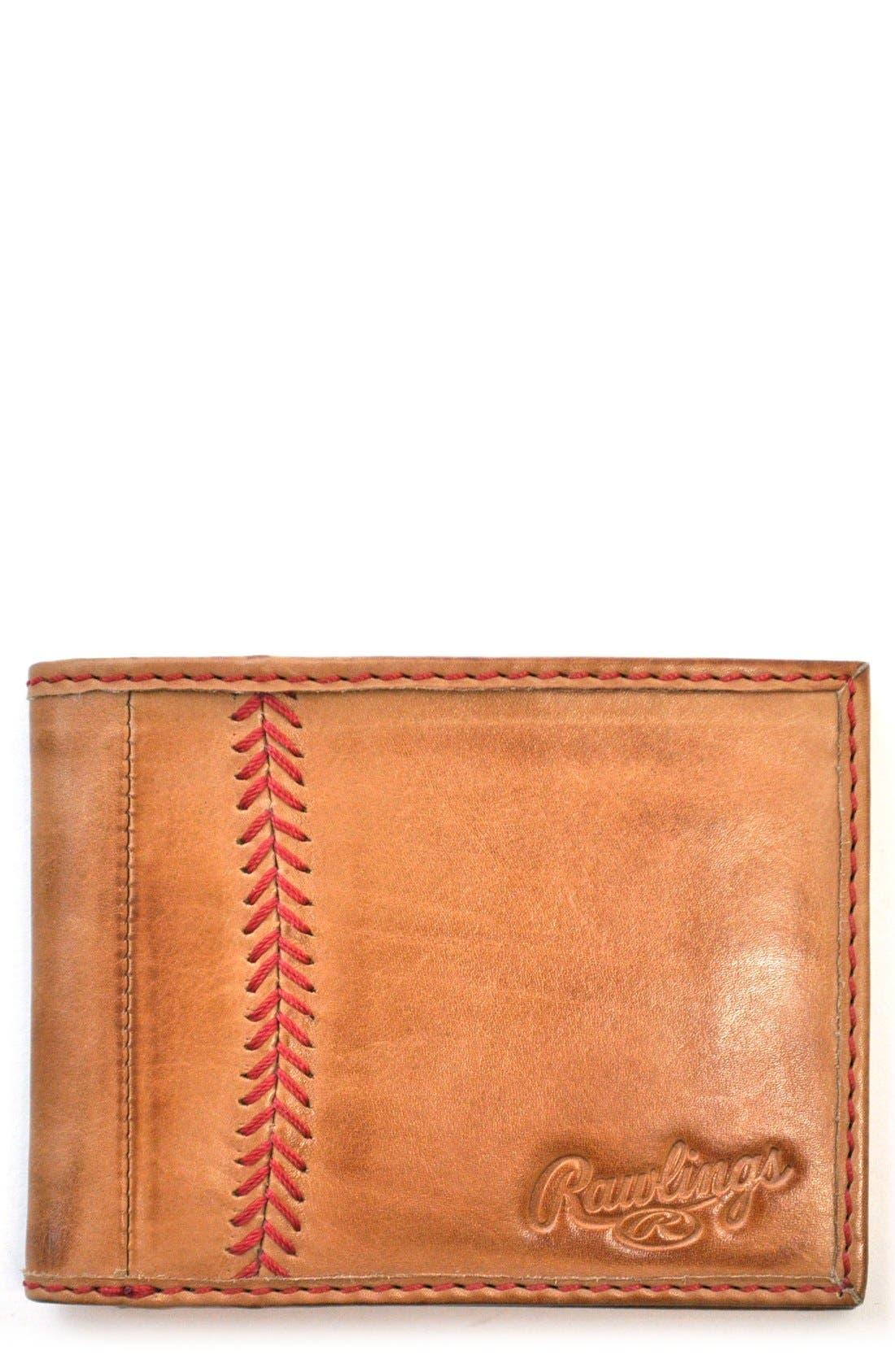Main Image - Rawlings® Baseball Stitch Wallet