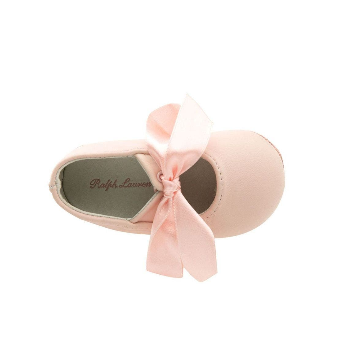 Layette 'Briley' Shoe,                             Alternate thumbnail 3, color,                             Pink Lambskin