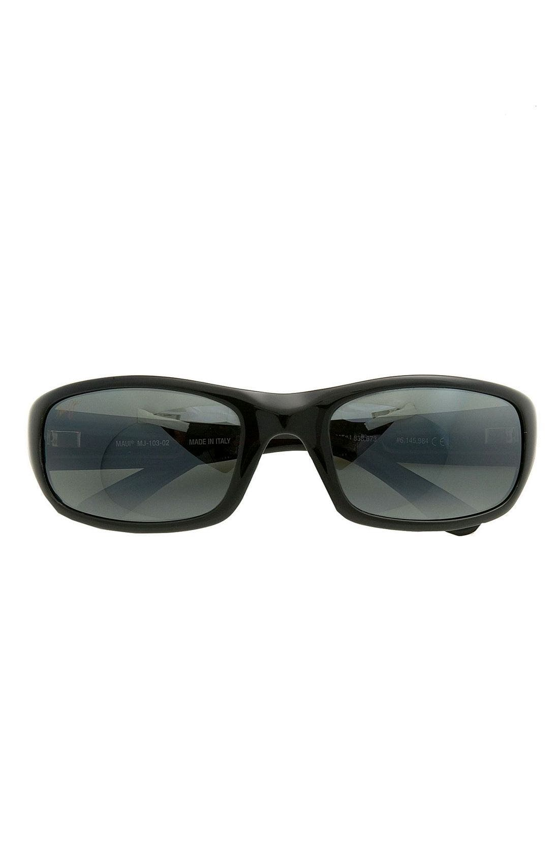 'Stingray - PolarizedPlus<sup>®</sup>2' 56mm Sunglasses,                             Alternate thumbnail 2, color,                             Black