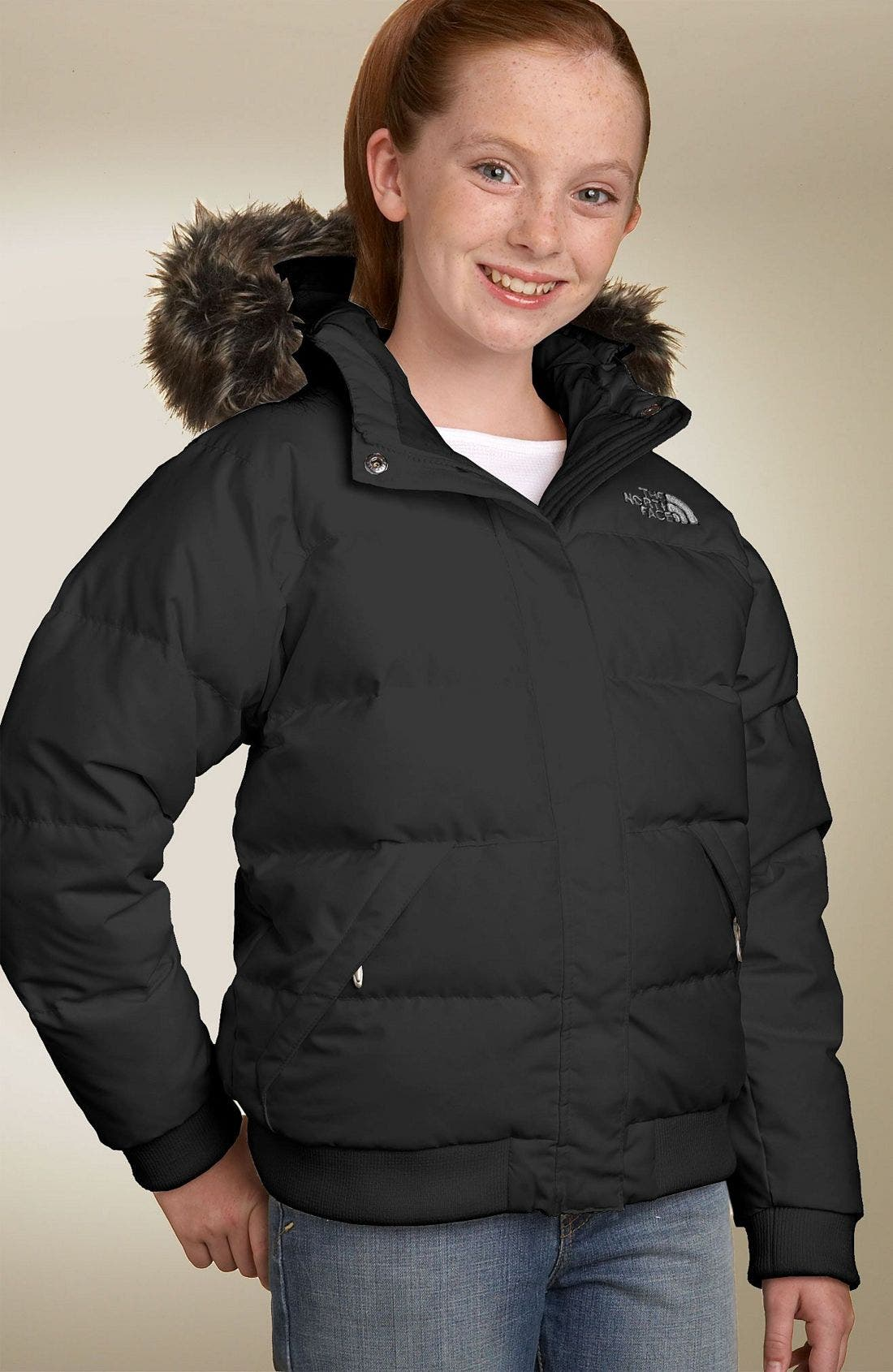 Alternate Image 1 Selected - The North Face 'Gotham' Jacket (Little Girls & Big Girls)