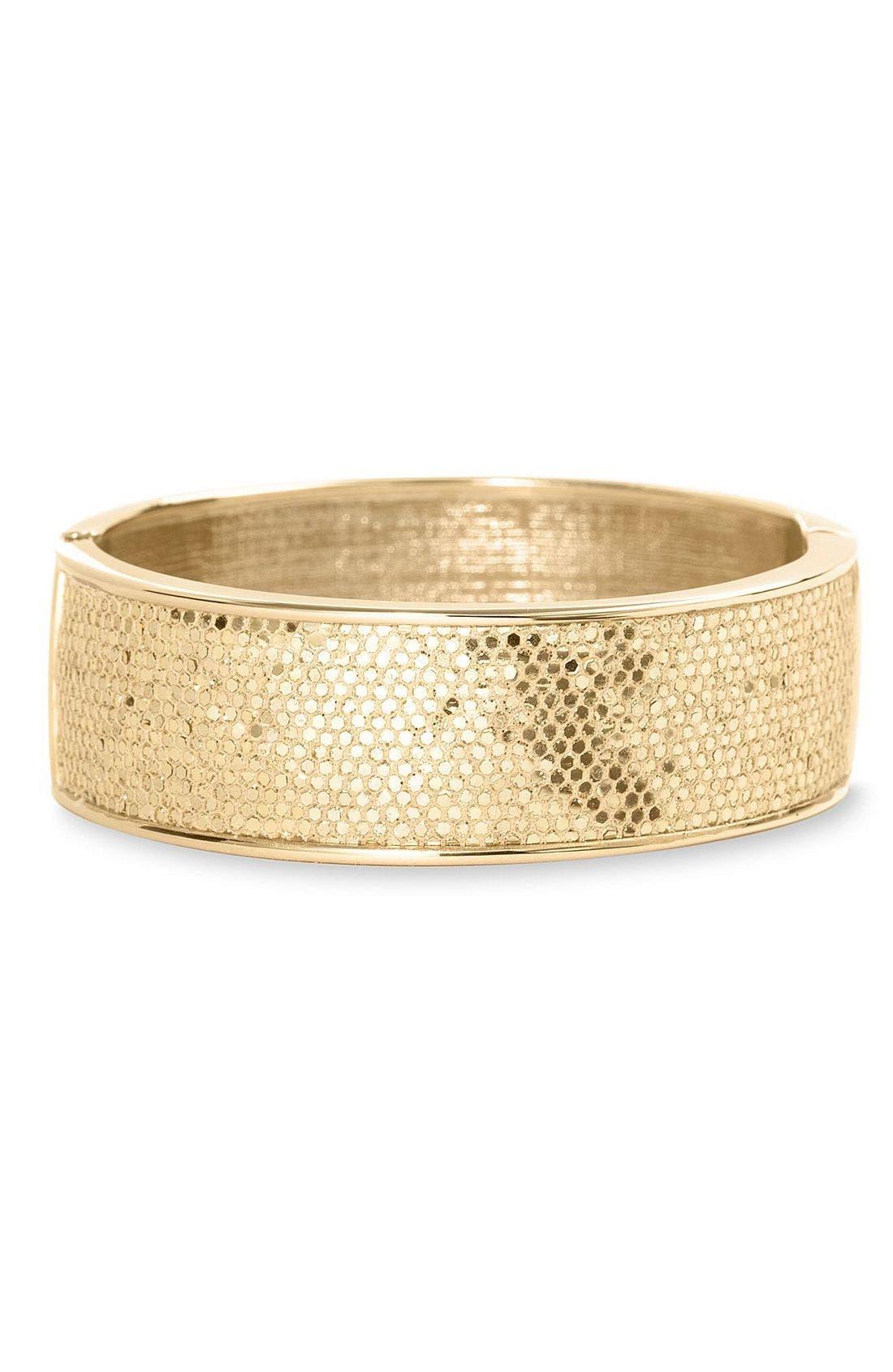 Sequined Bangle Bracelet,                         Main,                         color, Gold