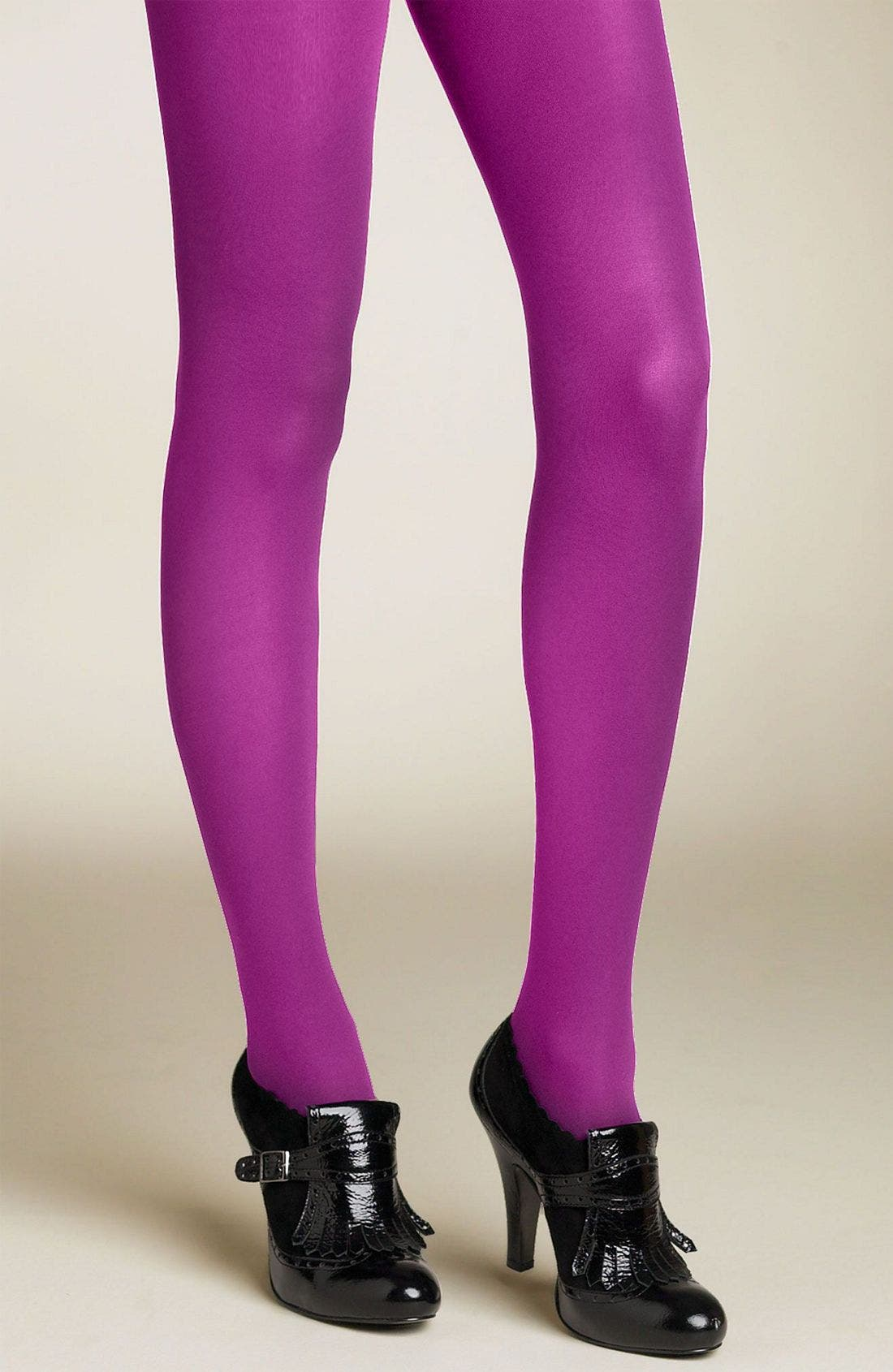 Super Opaque Tights,                             Main thumbnail 1, color,                             Aubergine