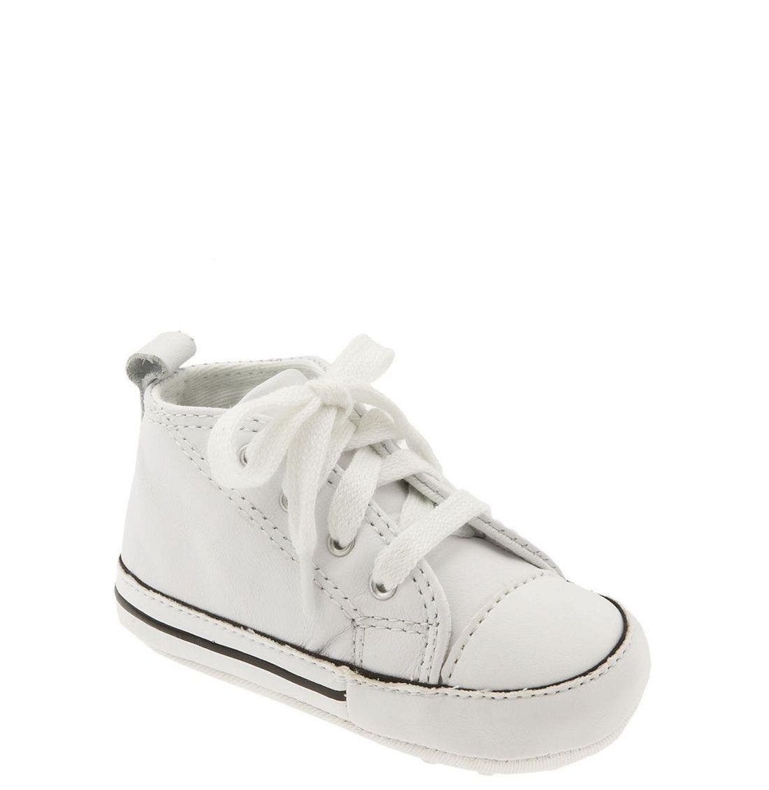 Chuck Taylor<sup>®</sup> Crib Sneaker,                         Main,                         color, White