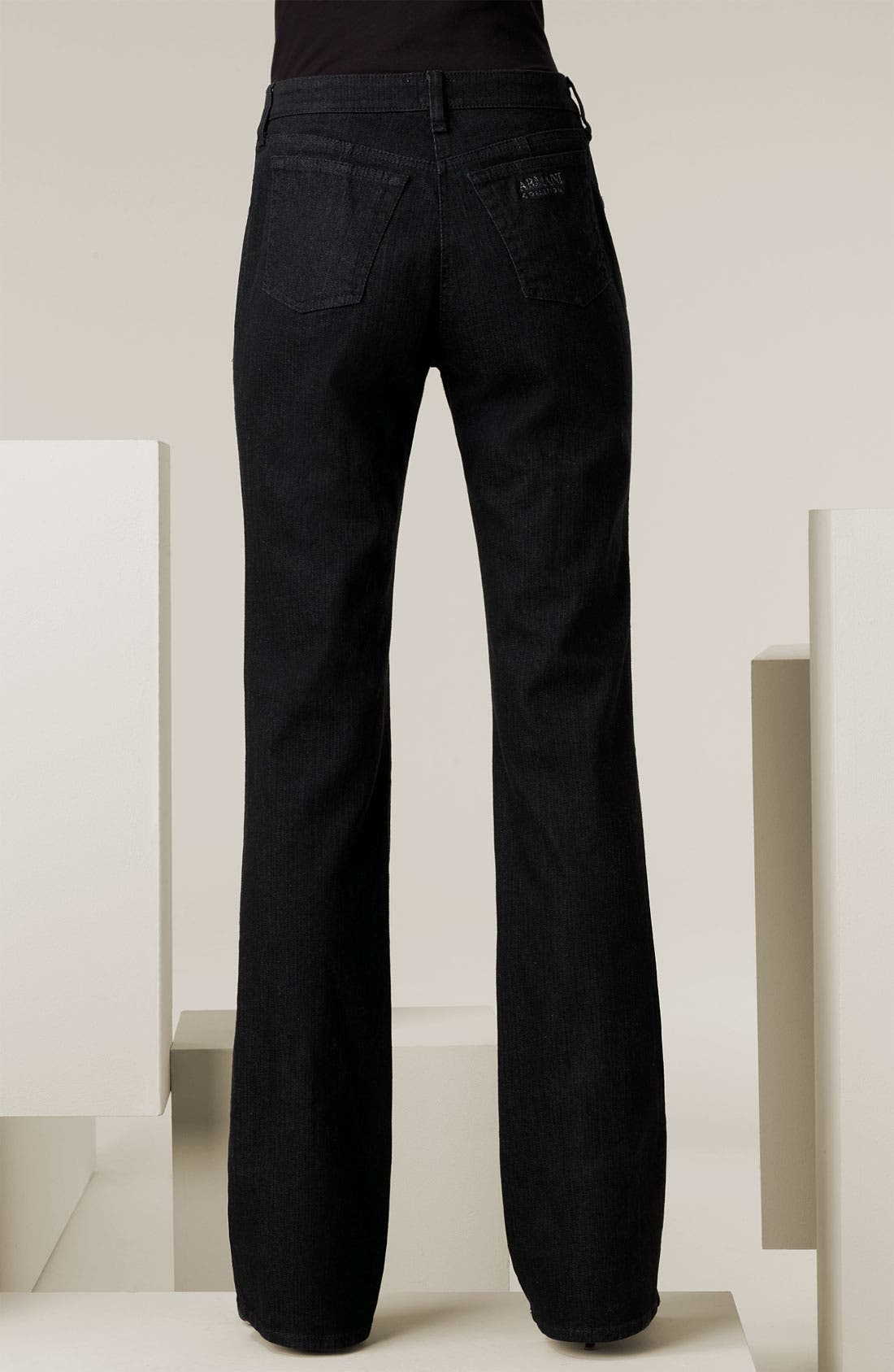 Alternate Image 2  - Armani Collezioni Classic Stretch Denim Jeans