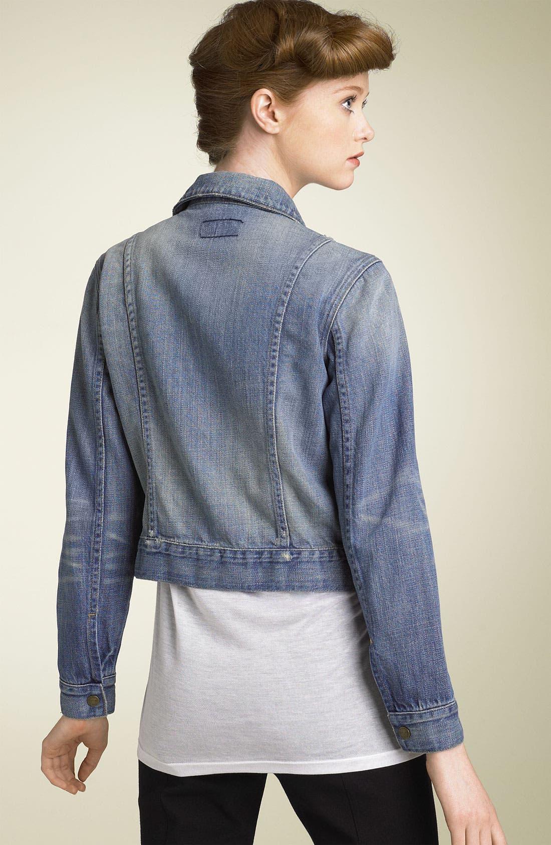 Alternate Image 2  - Current/Elliott 'The Snap' Stretch Denim Jacket