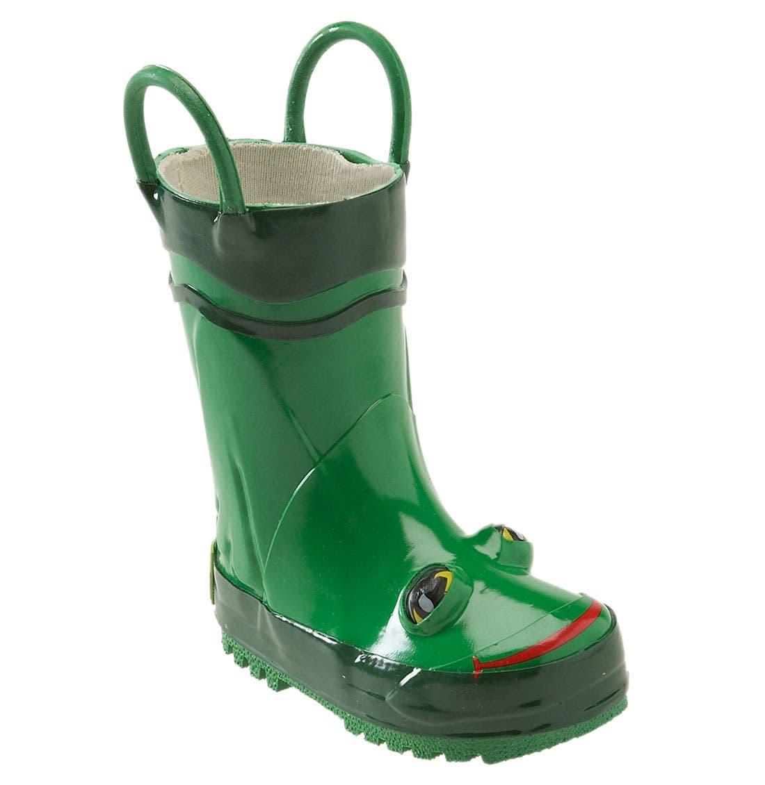 Alternate Image 1 Selected - Western Chief 'Frog' Rain Boot (Walker, Toddler, Little Kid & Big Kid)