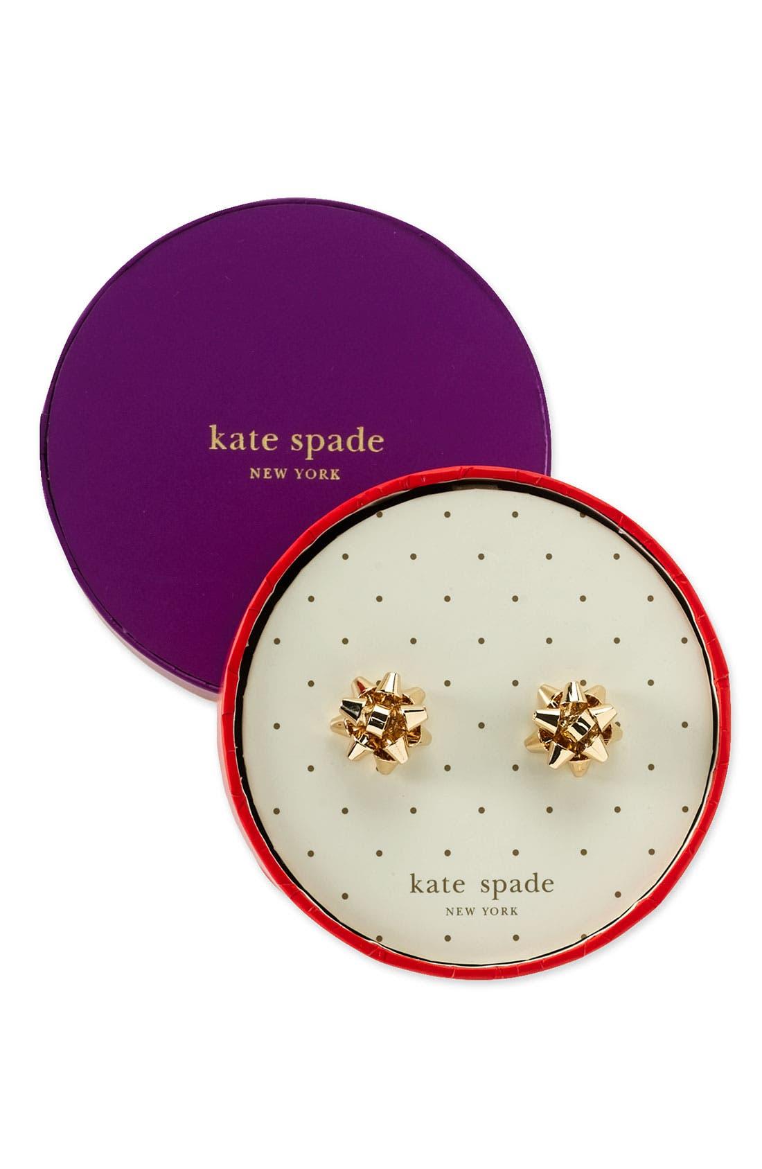 kate spade 'bourgeois bow' stud earrings,                             Alternate thumbnail 2, color,                             Gold