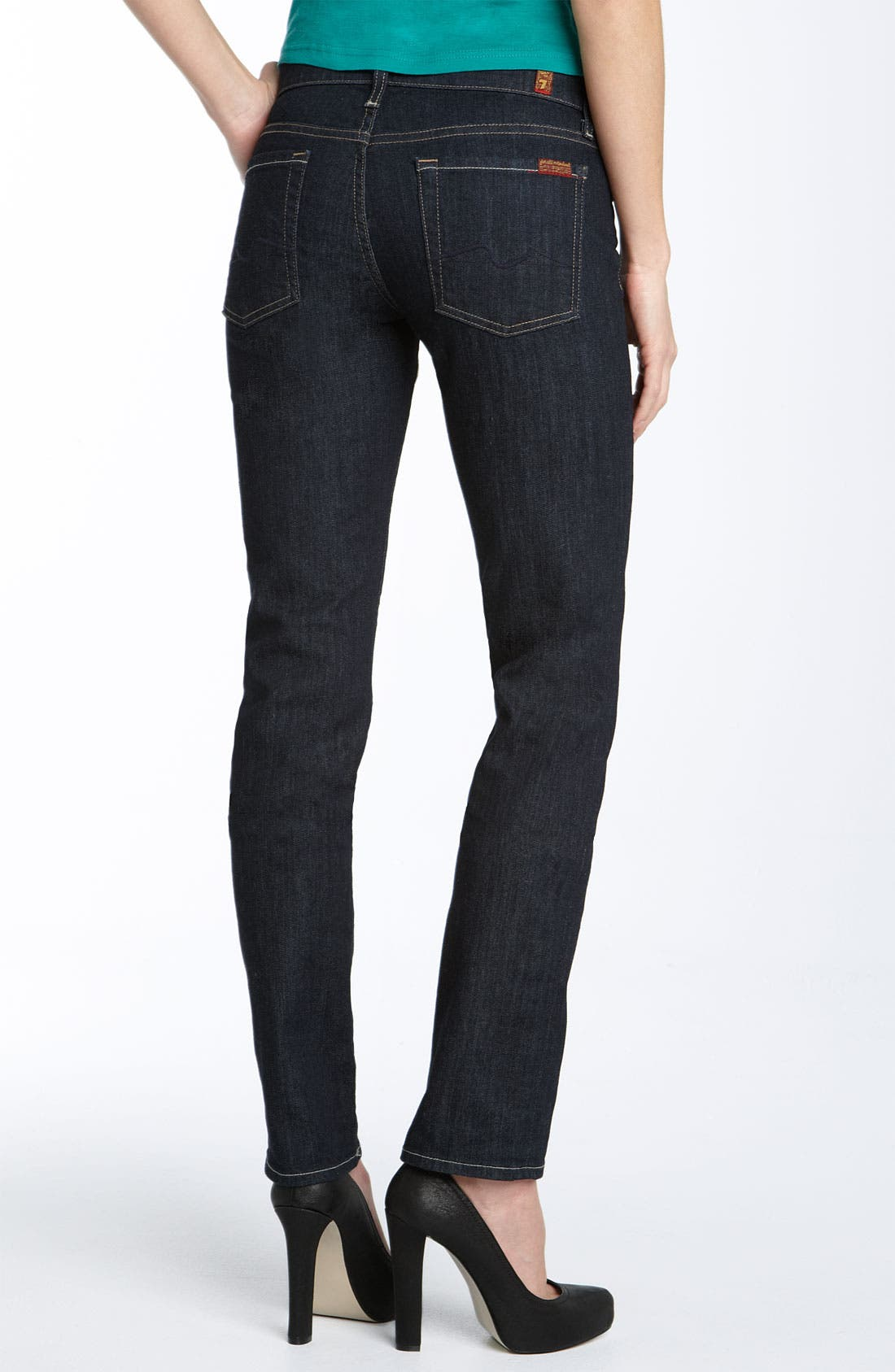 Alternate Image 1 Selected - 7 For All Mankind® 'Roxanne' Skinny Stretch Jeans (Rinse Wash)