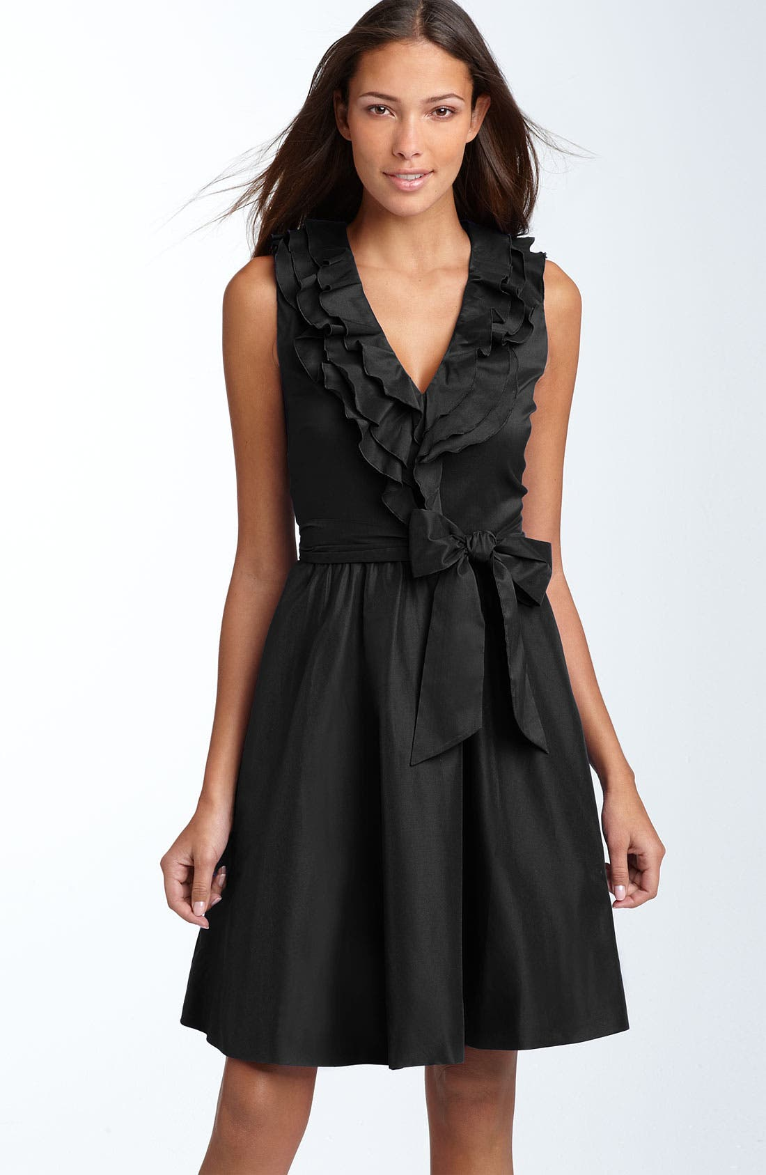 Main Image - Suzi Chin for Maggy Boutique Ruffled Cotton Blend Dress