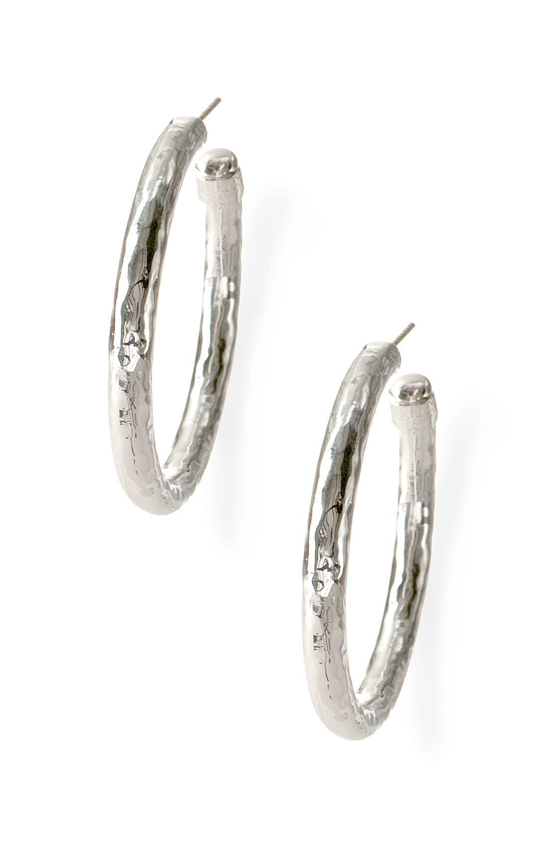 Ippolita 'Glamazon - Number 3' Skinny Hammered Hoop Earrings