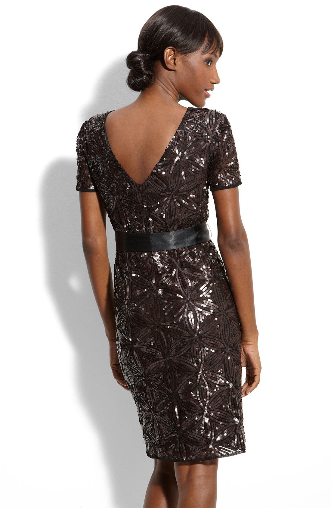 Alternate Image 2  - Aidan Mattox Sequin Sheath Dress