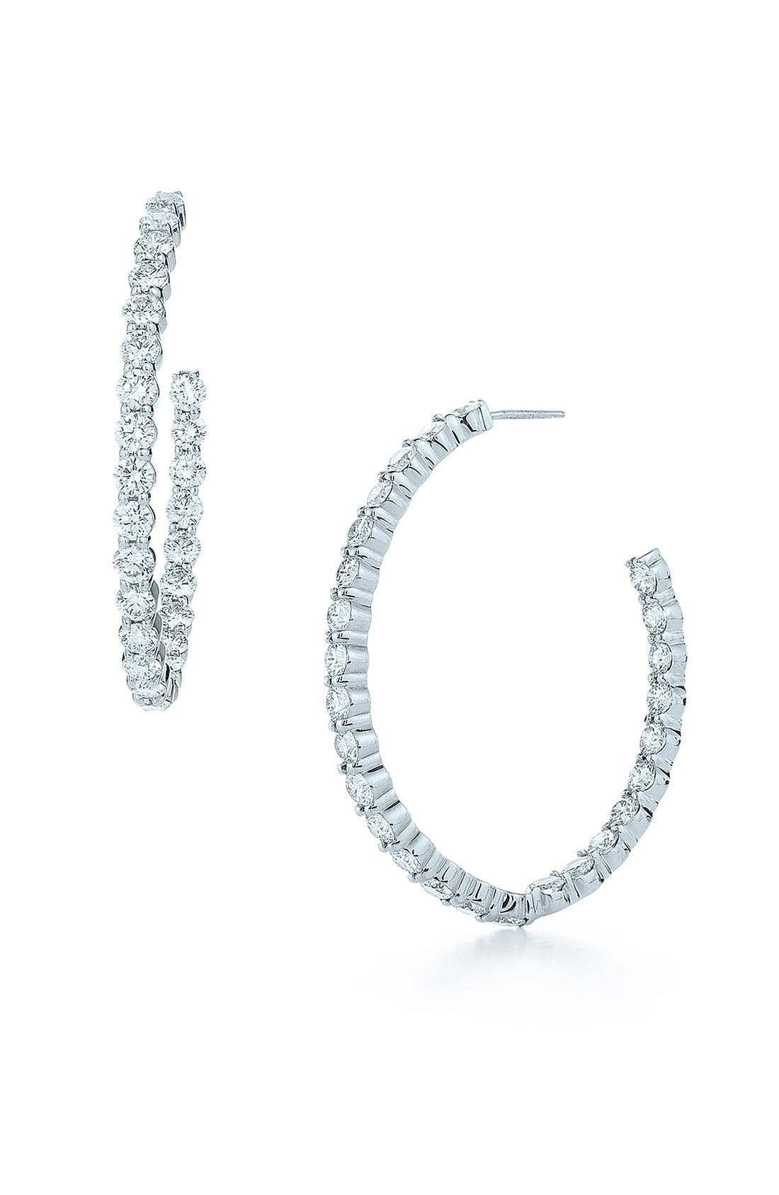 Alternate Image 1 Selected - Kwiat 'Inside Out' Diamond Hoop Earrings