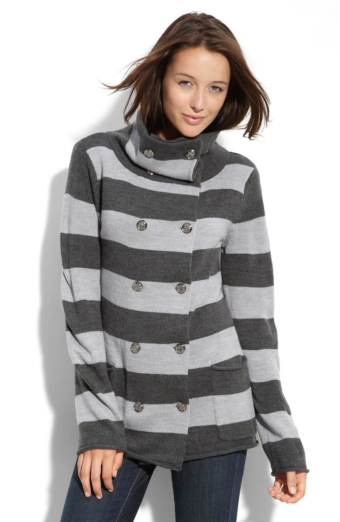 Alternate Image 1 Selected - Sweet Romeo Double Breasted Sweater Coat