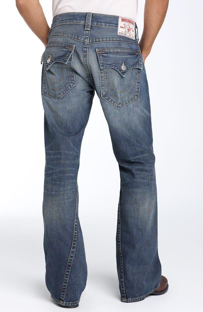 true religion brand jeans 39 joey 39 bootcut jeans storm rider wash nordstrom. Black Bedroom Furniture Sets. Home Design Ideas