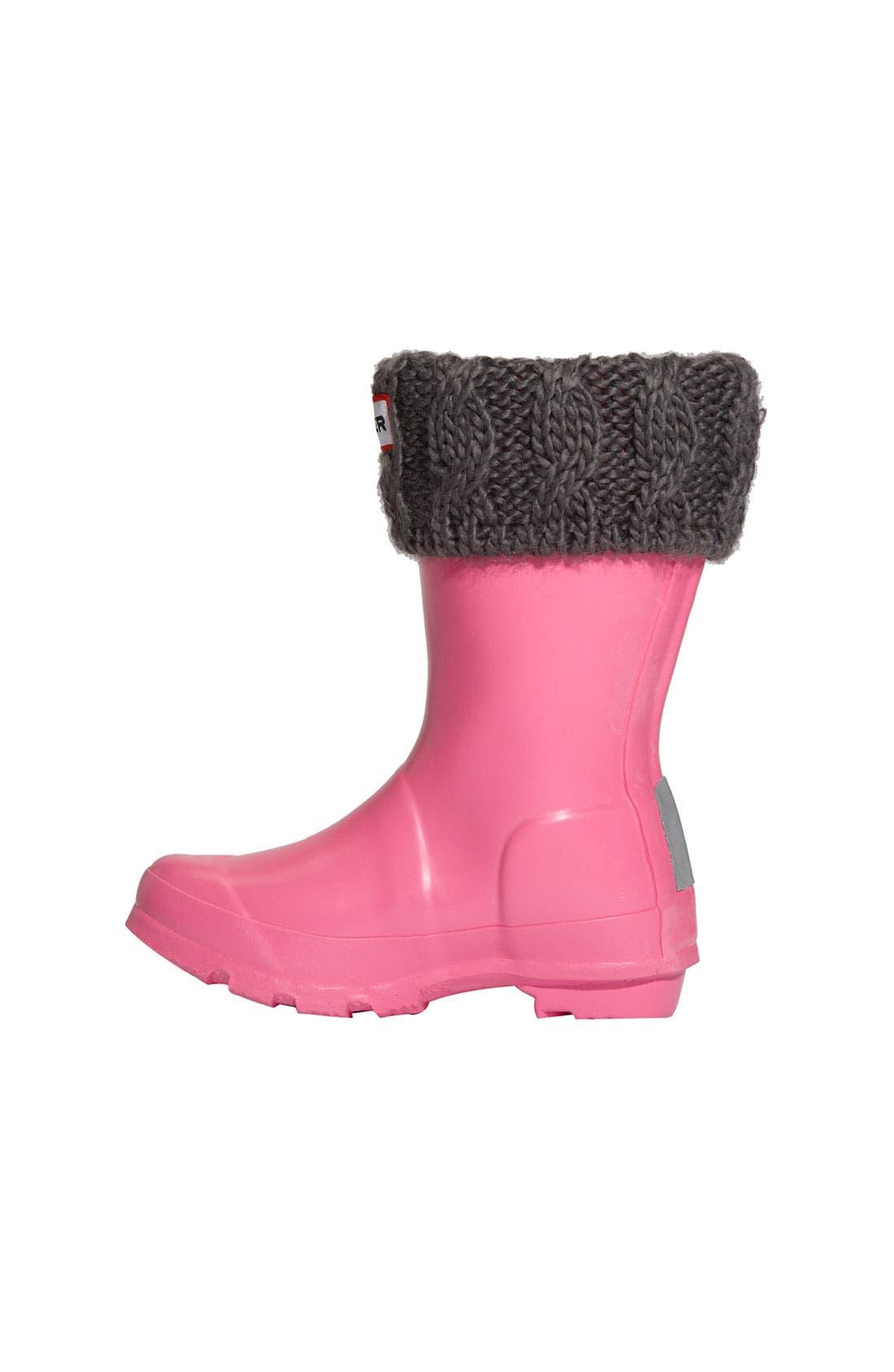 Alternate Image 2  - Hunter Cabled Cuff Welly Socks (Toddler Girls, Little Girls & Big Girls)
