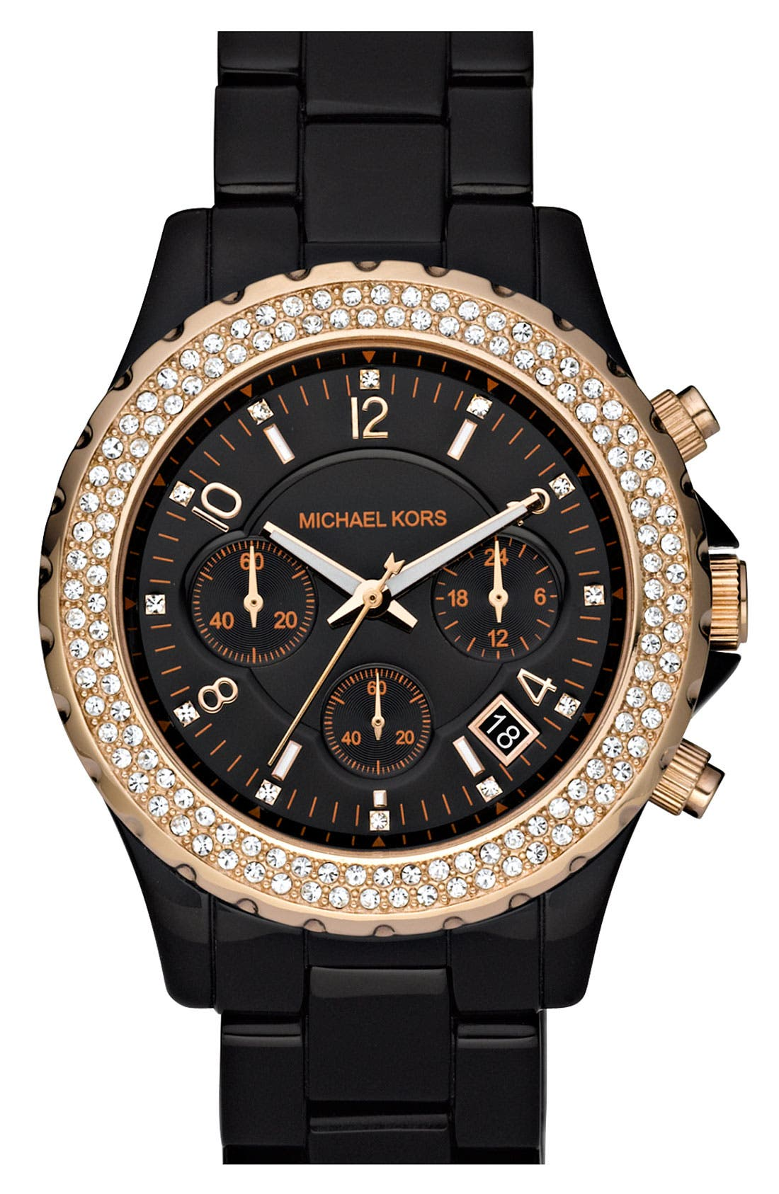 Alternate Image 1 Selected - Michael Kors 'Madison' Resin & Crystal Watch