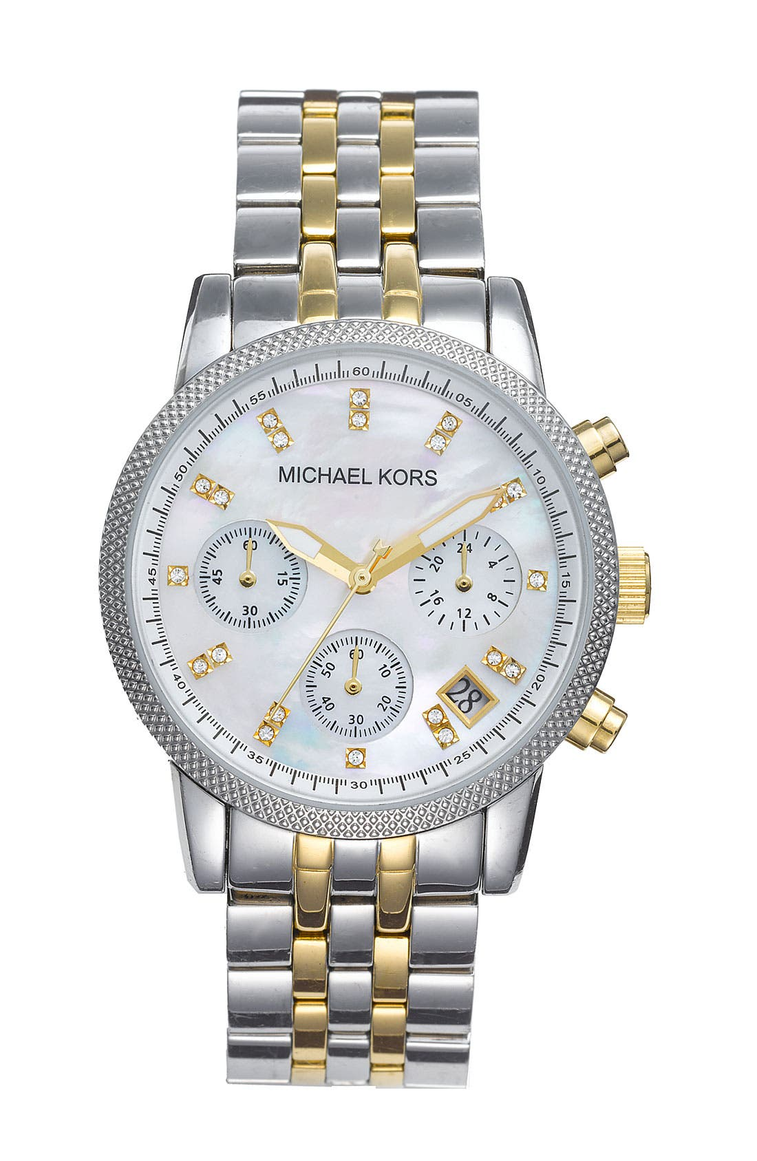 Main Image - Michael Kors 'The Ritz' Chronograph Bracelet Watch, 36mm