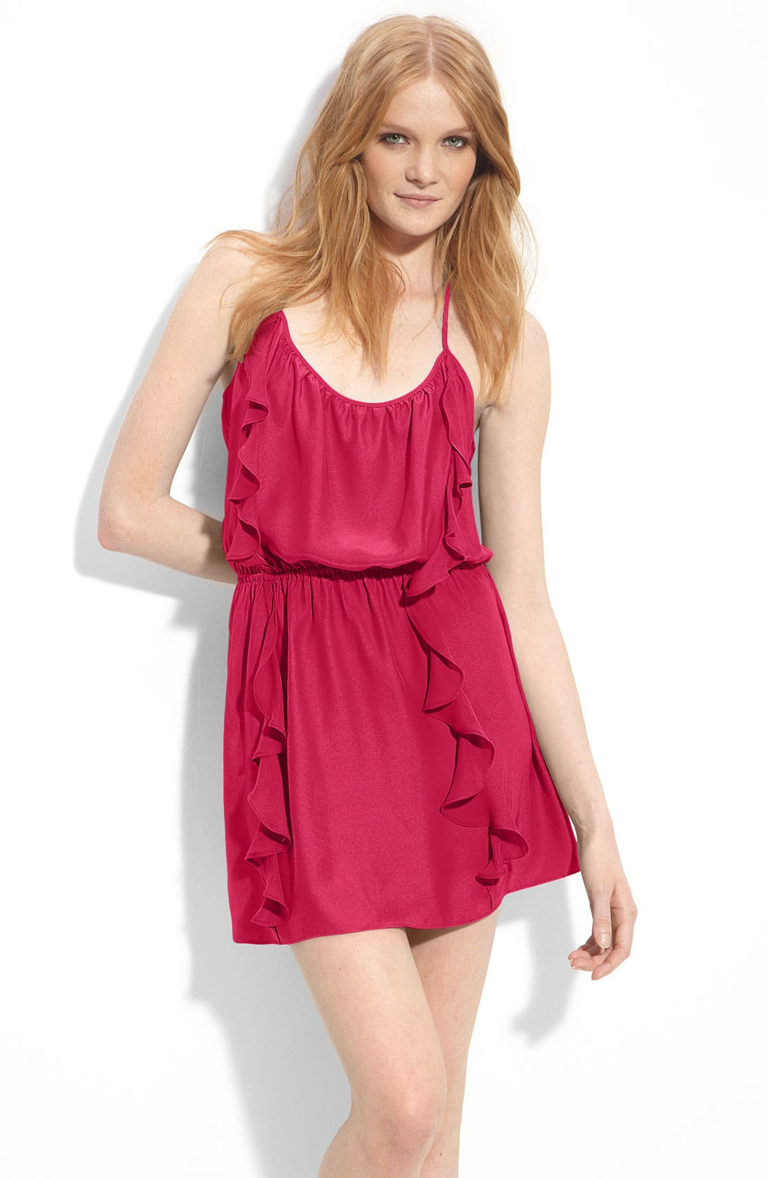 Alternate Image 1 Selected - Parker Ruffle Silk Dress