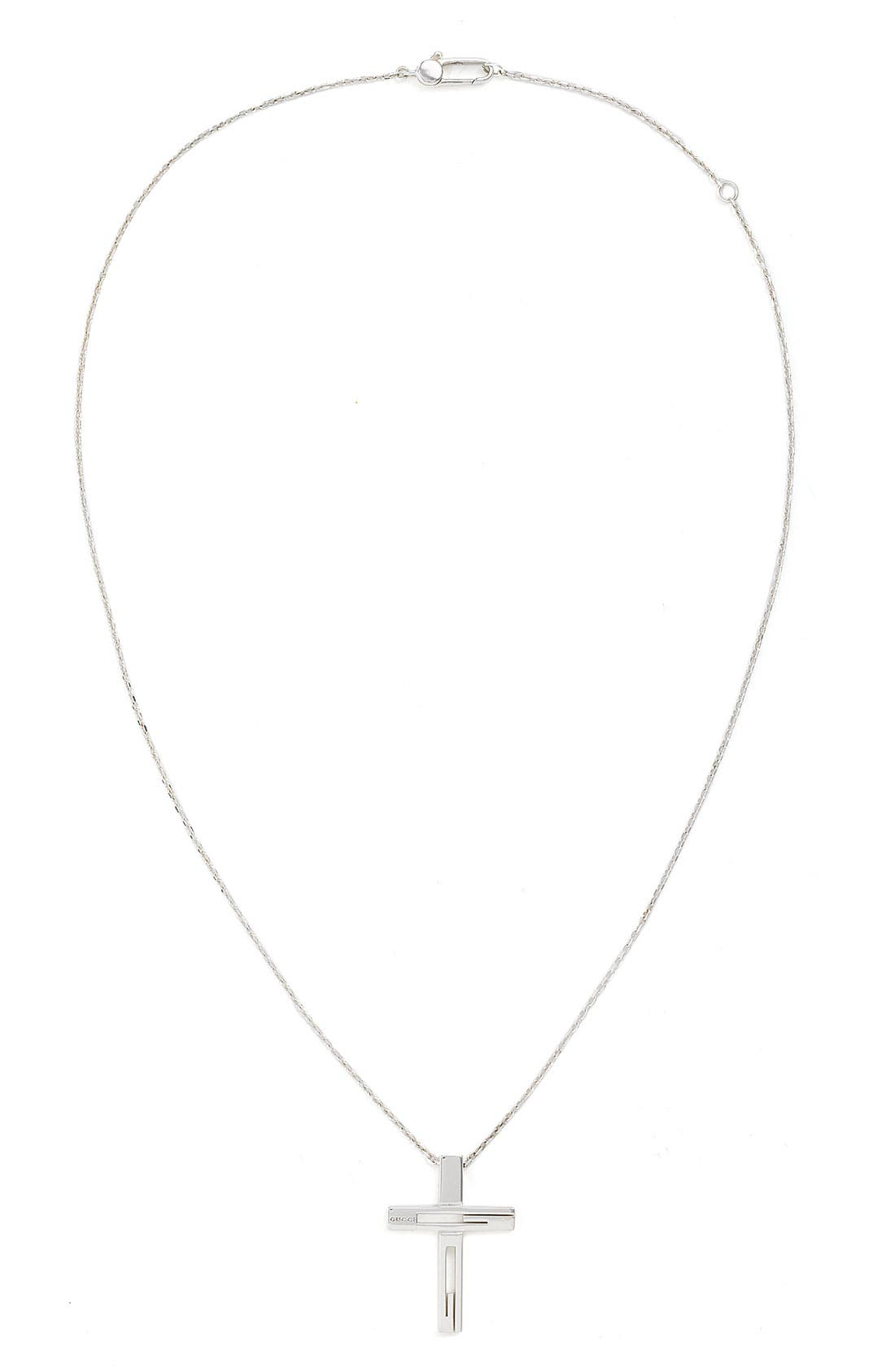 Alternate Image 1 Selected - Gucci Branded Cross Pendant Necklace