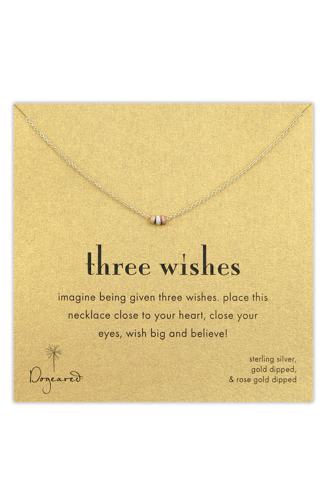 Main Image - Dogeared Three Wishes Pendant Necklace