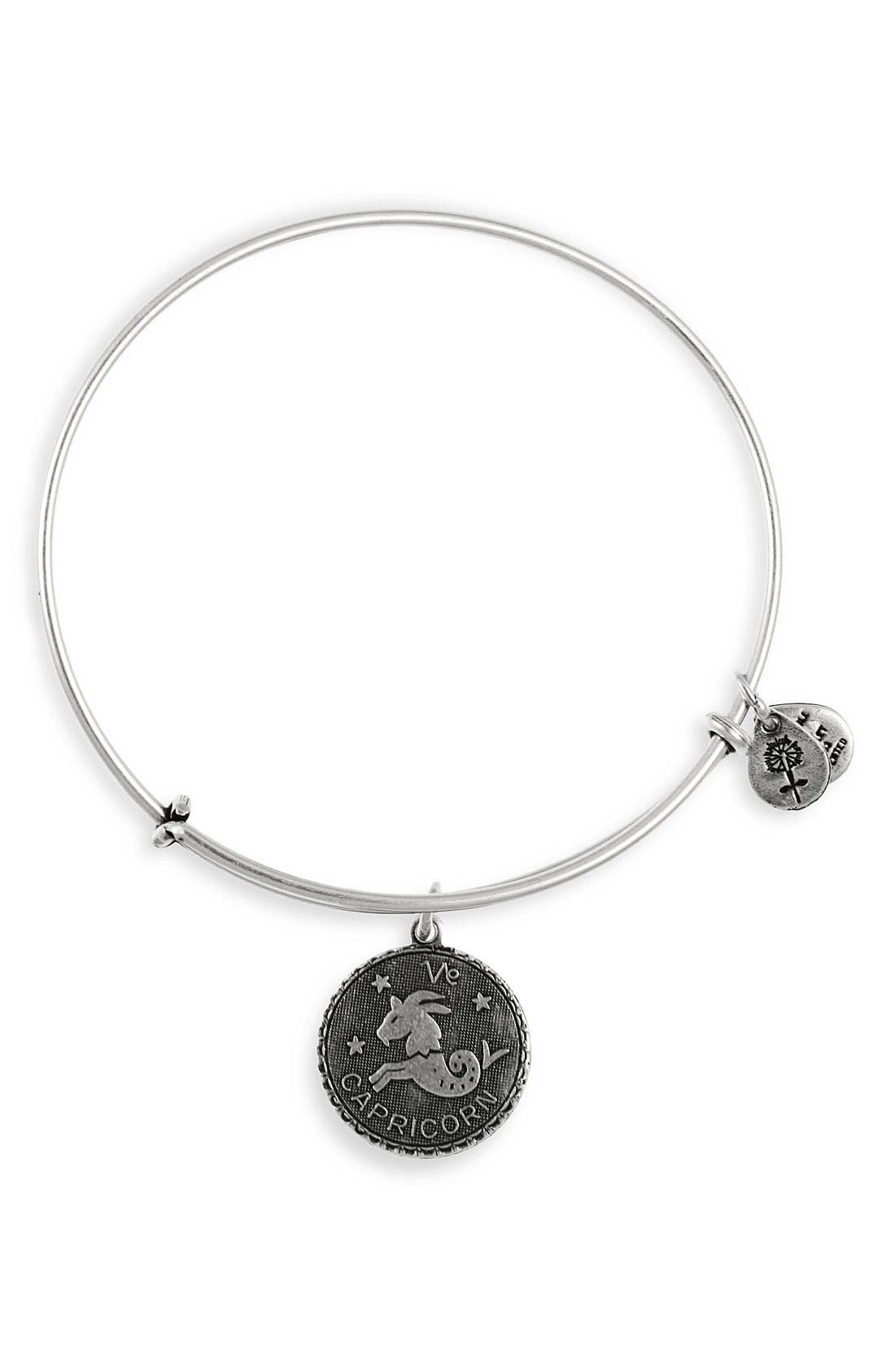 Main Image - Alex and Ani Zodiac Charm Expandable Wire Bangle