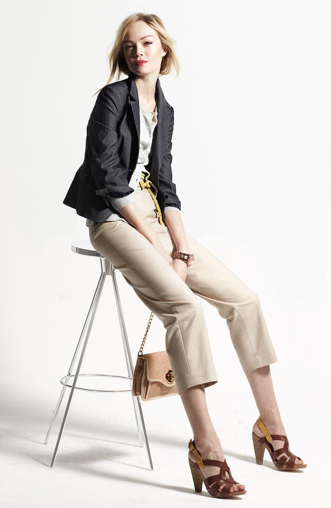 Main Image - Halogen® Three Quarter Sleeve Blazer, Cardigan & Camisole