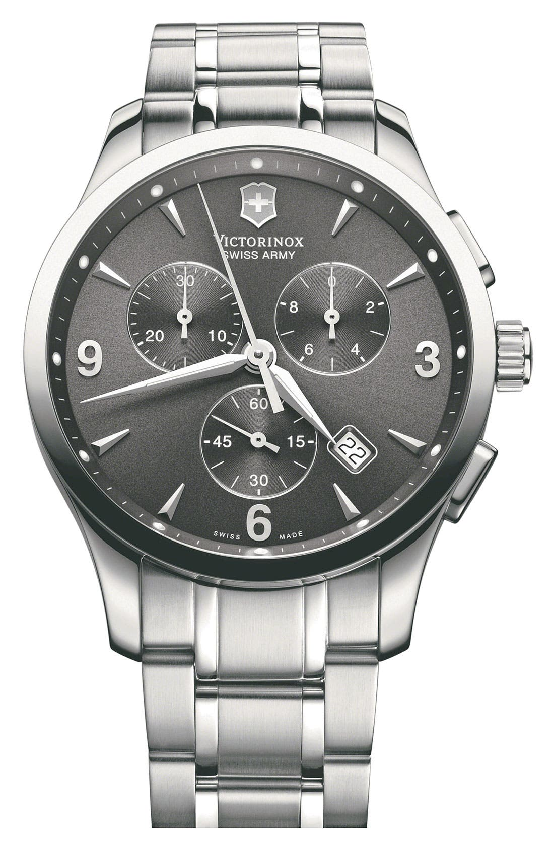 Alternate Image 1 Selected - Victorinox Swiss Army® 'Alliance Chrono' Large Bracelet Watch, 42mm
