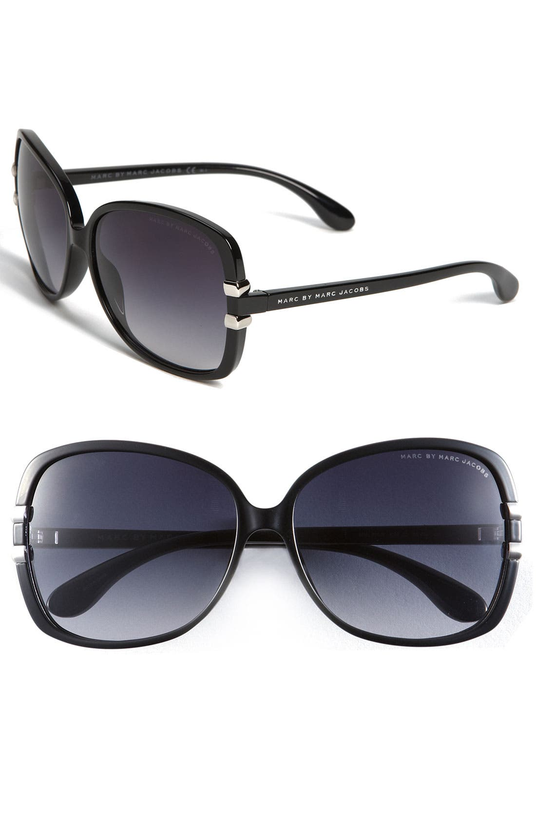 Alternate Image 1 Selected - MARC BY MARC JACOBS 59mm Oversized Ombré Sunglasses