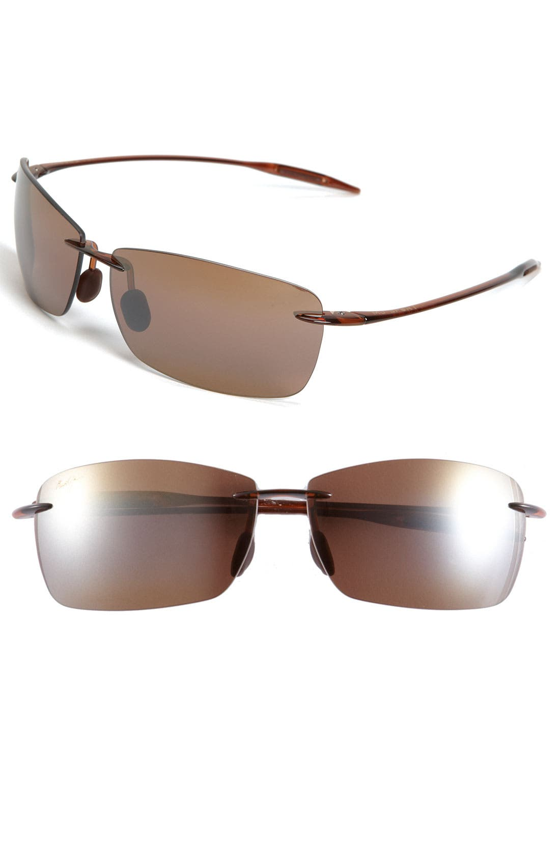 Main Image - Maui Jim Lighthouse 65mm PolarizedPlus2® Rimless Sunglasses