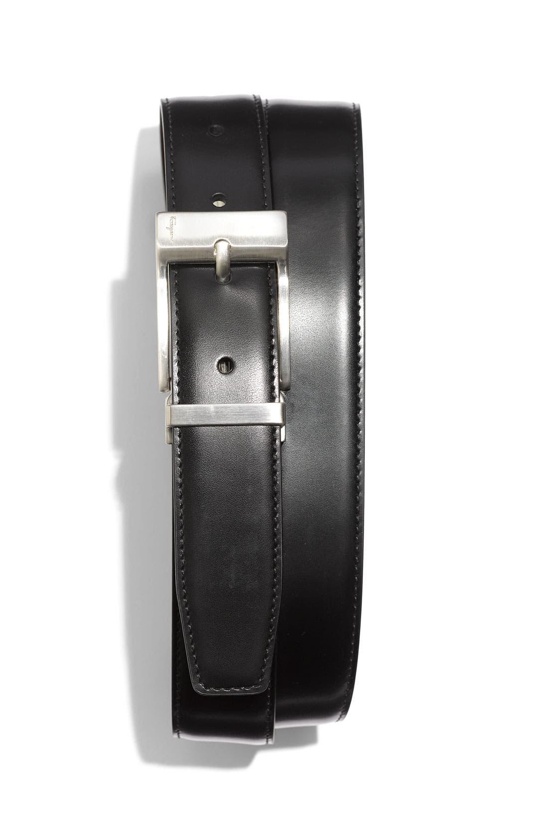 Alternate Image 1 Selected - Salvatore Ferragamo Reversible Nickel Buckle Belt