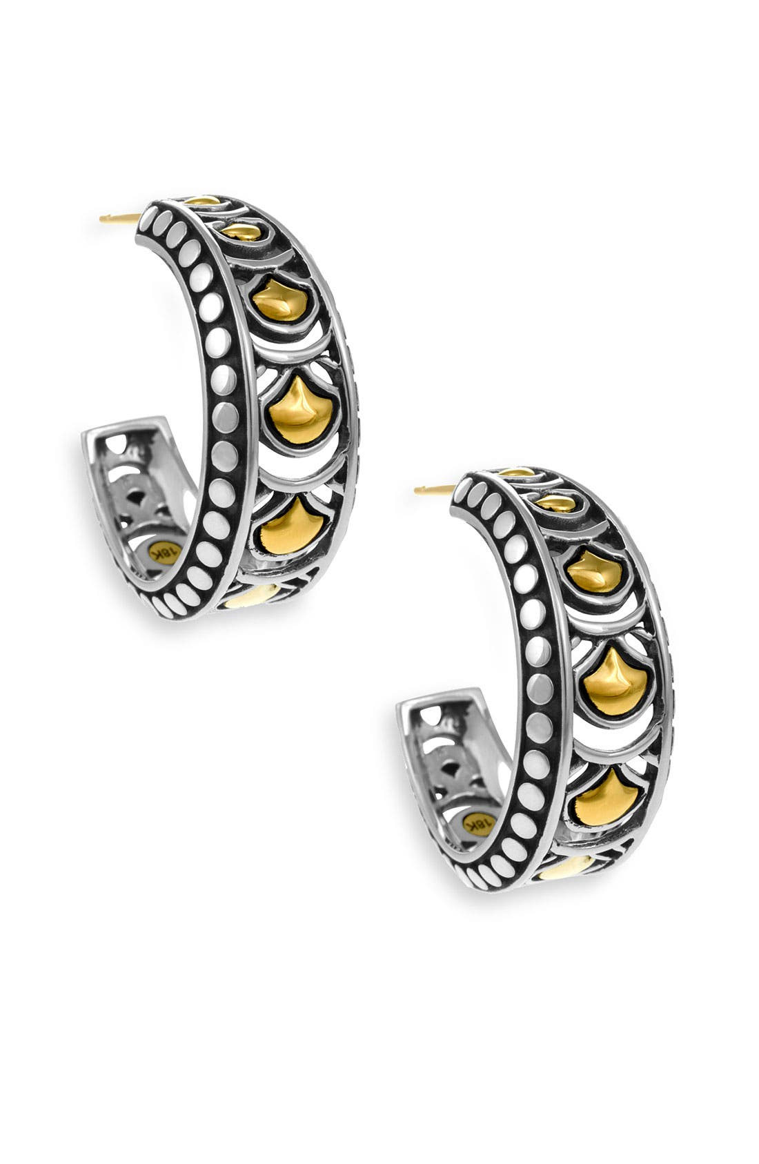Alternate Image 1 Selected - John Hardy 'Naga Gold & Silver' Hoop Earrings