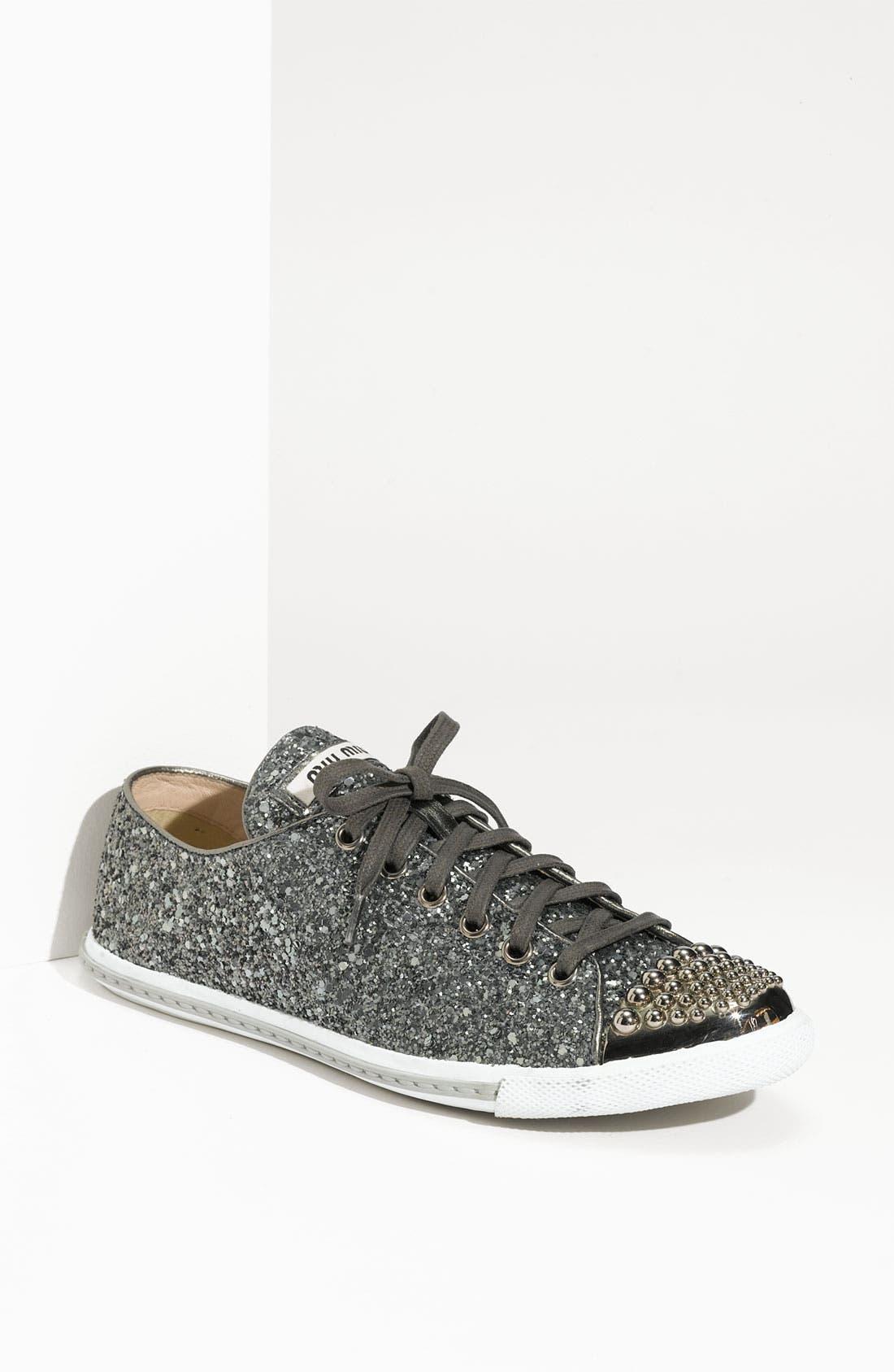 Alternate Image 1 Selected - Miu Miu Glitter Sneaker