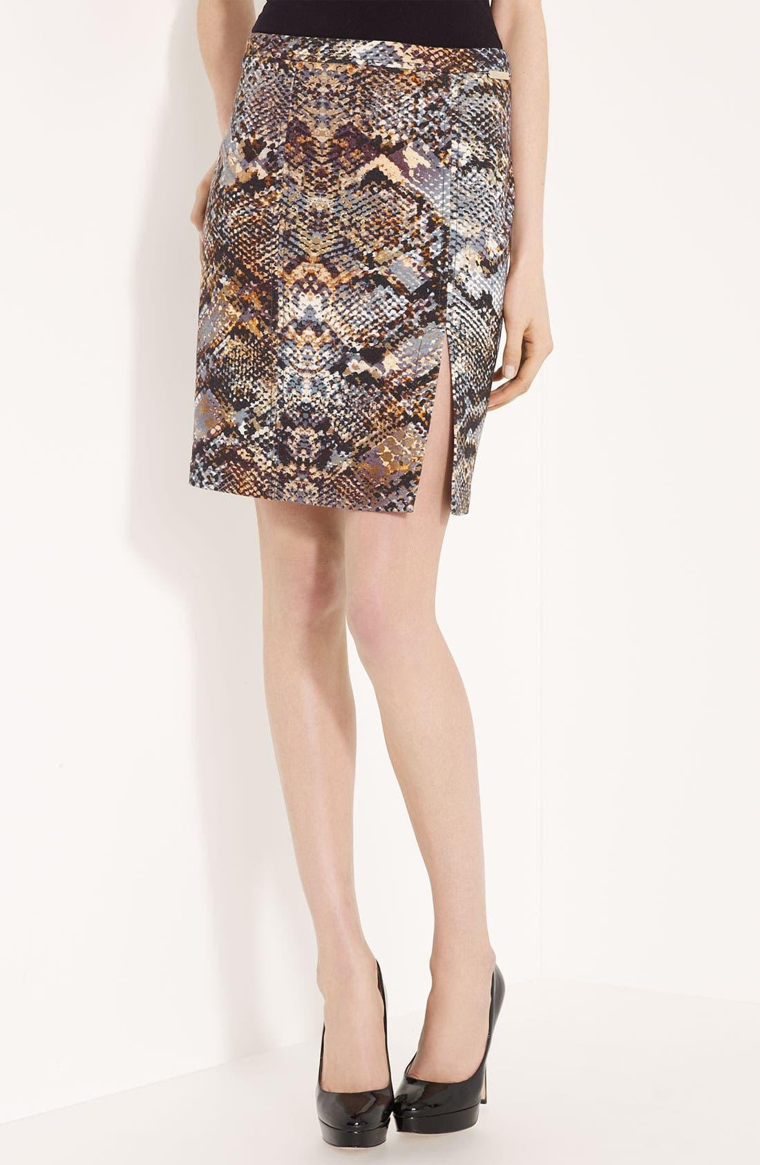 Front Slit Skirt,                             Main thumbnail 1, color,                             Natural
