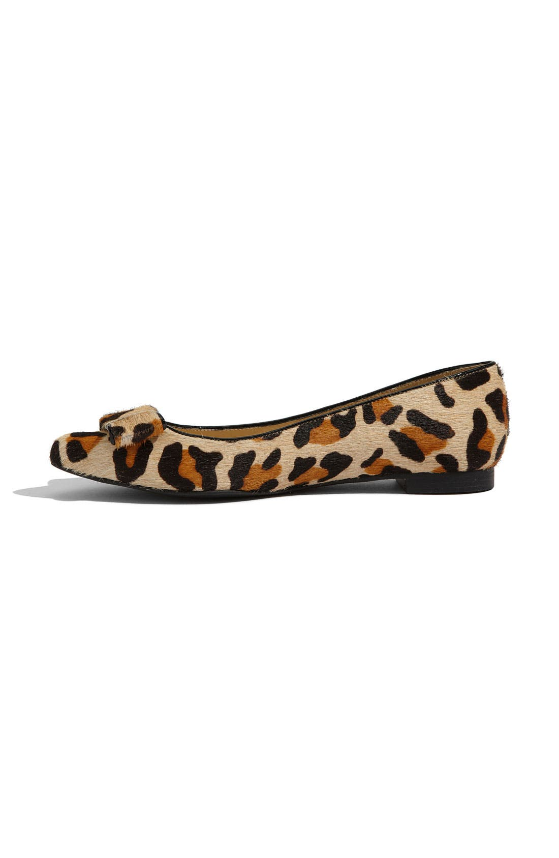 'elise' leopard print calf hair flat,                             Alternate thumbnail 2, color,                             Large Leopard Printed