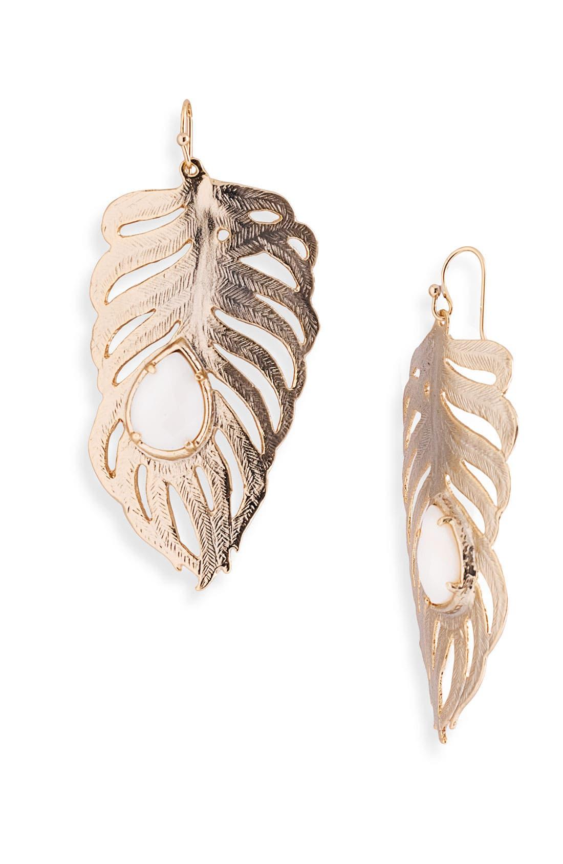 Alternate Image 1 Selected - Kendra Scott Large Stone Leaf Earrings