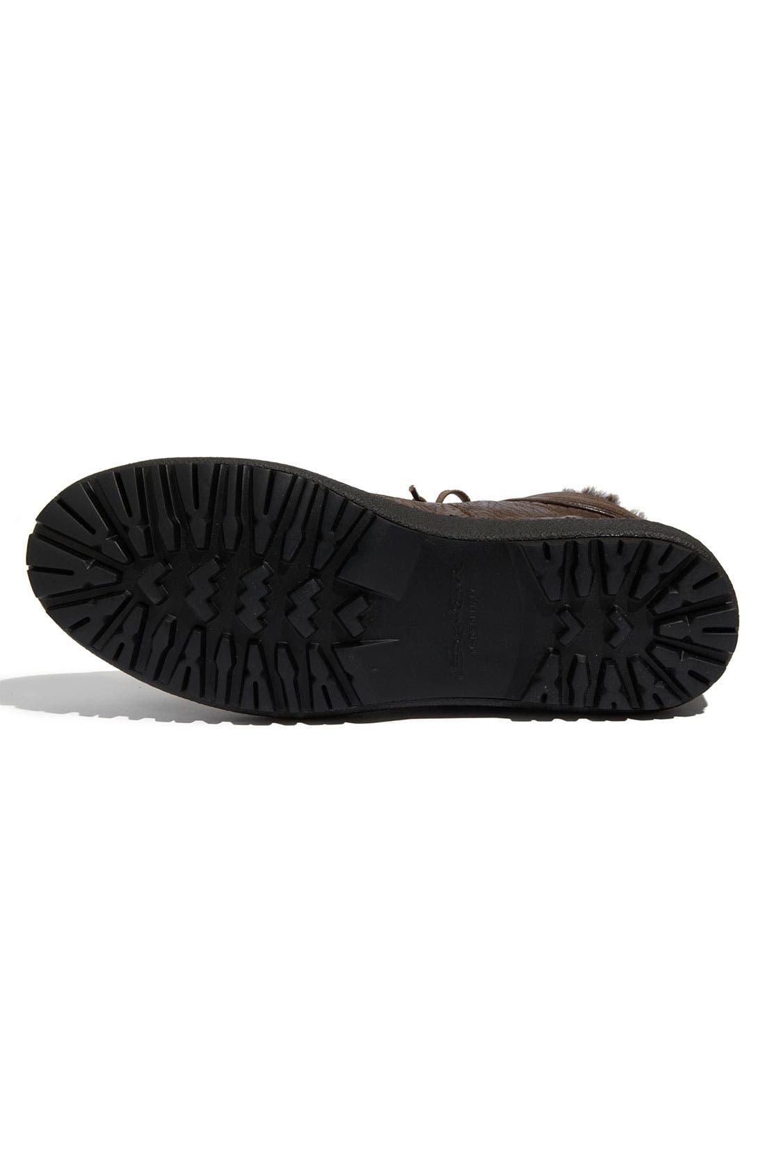 Alternate Image 4  - Santoni 'Dorado' Shearling Trimmed Sneaker
