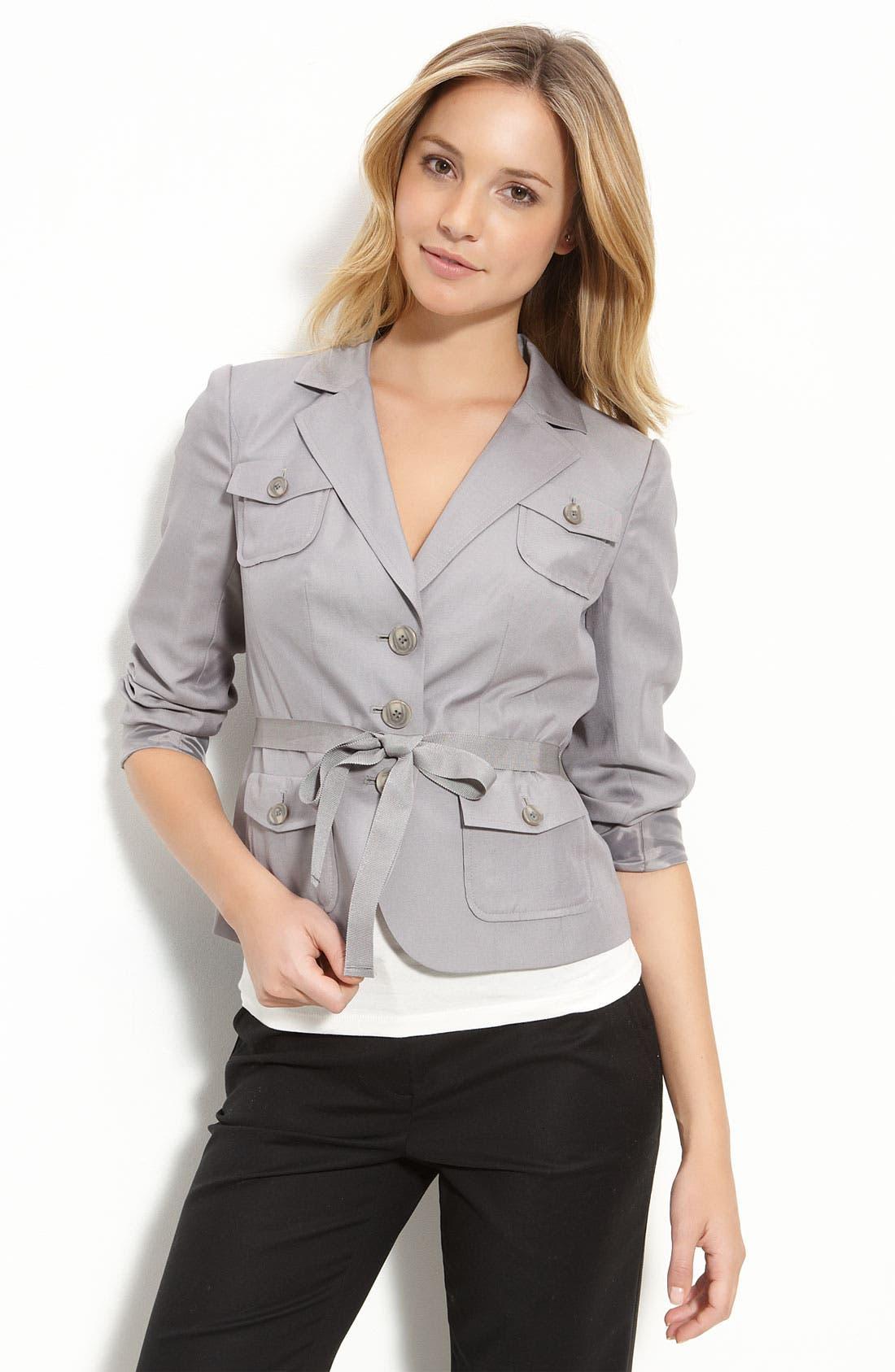 Alternate Image 1 Selected - Halogen® Ribbon Belted Jacket