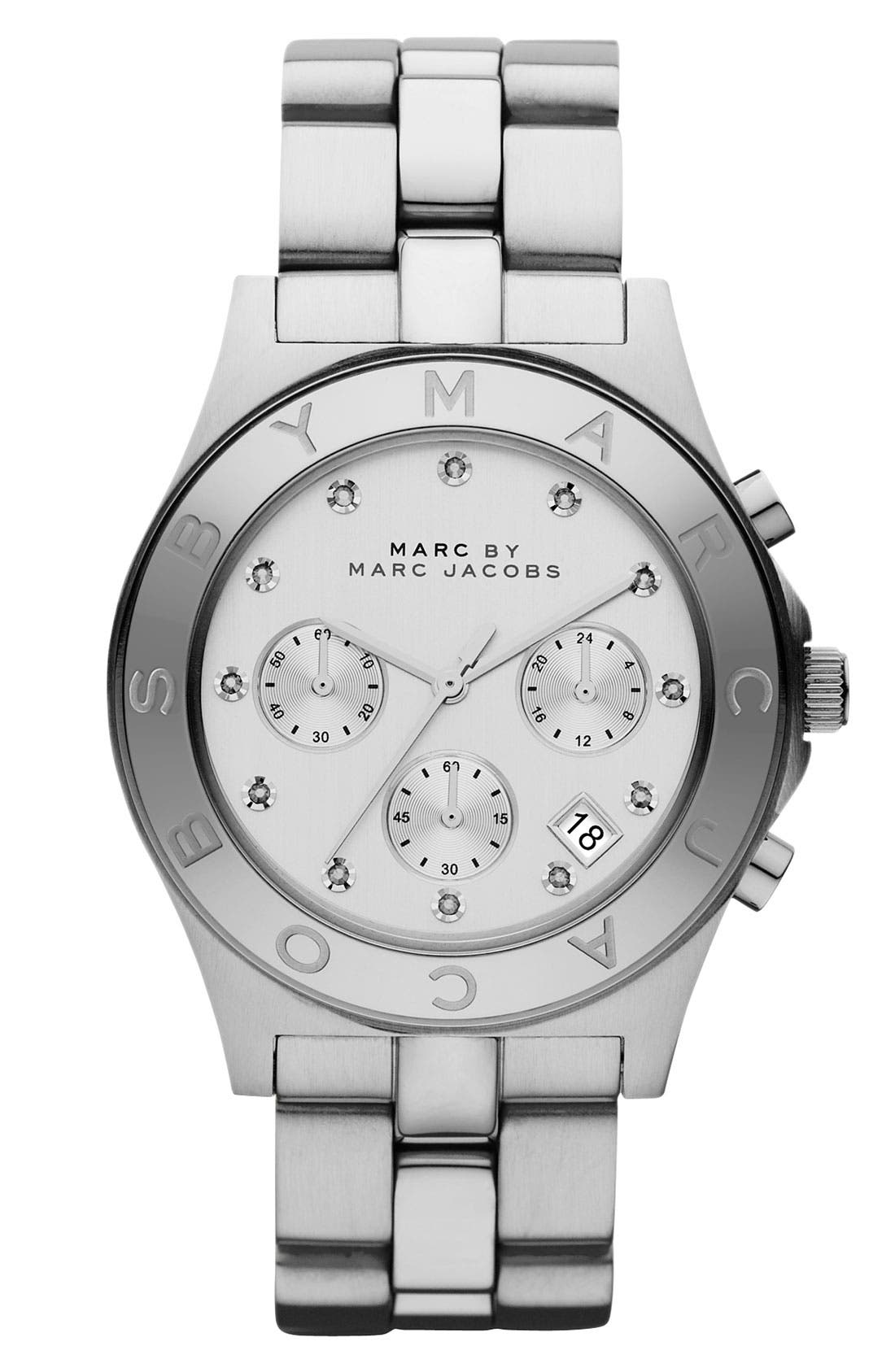 Alternate Image 1 Selected - MARC JACOBS 'Blade' Crystal Index Watch, 40mm