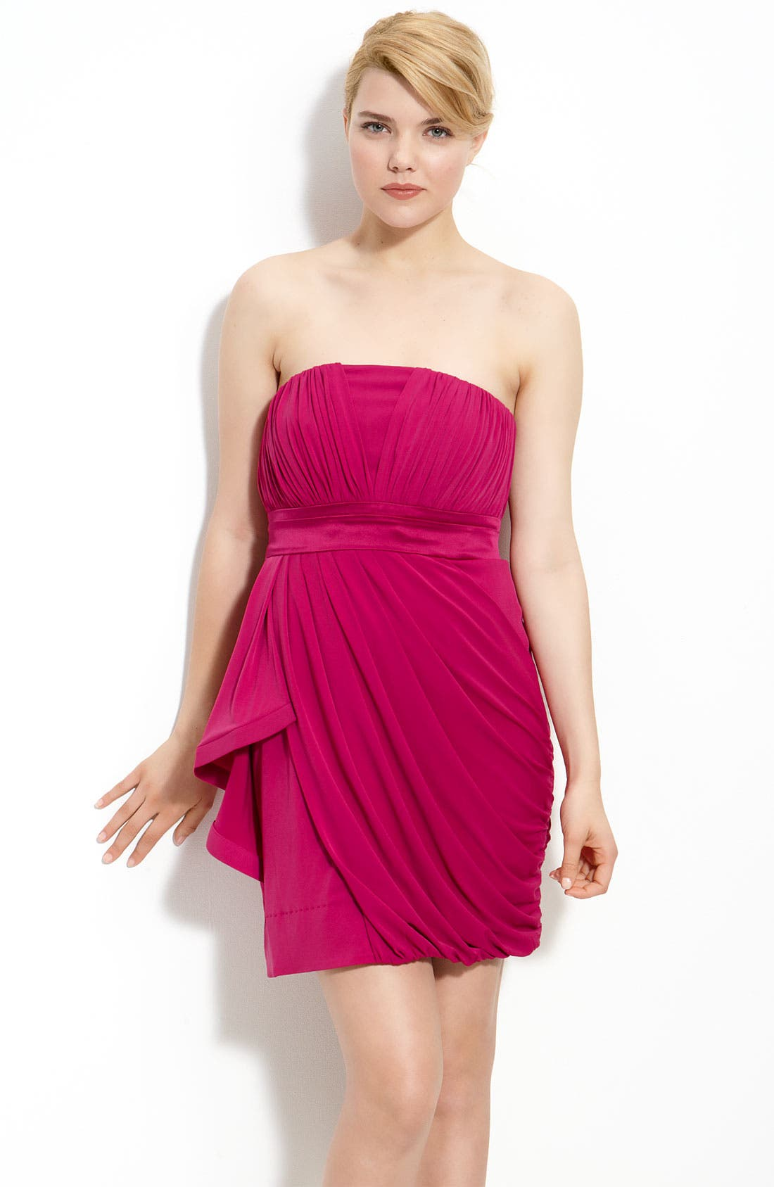 Main Image - Calvin Klein Strapless Draped Jersey Dress