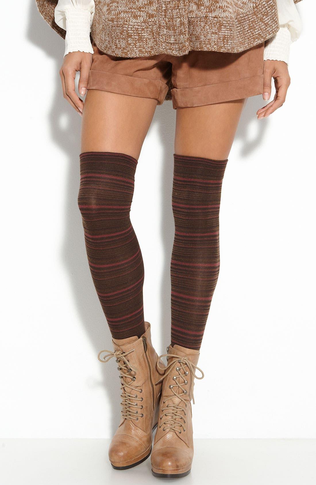 Main Image - Nordstrom Mini Stripe Over the Knee Socks