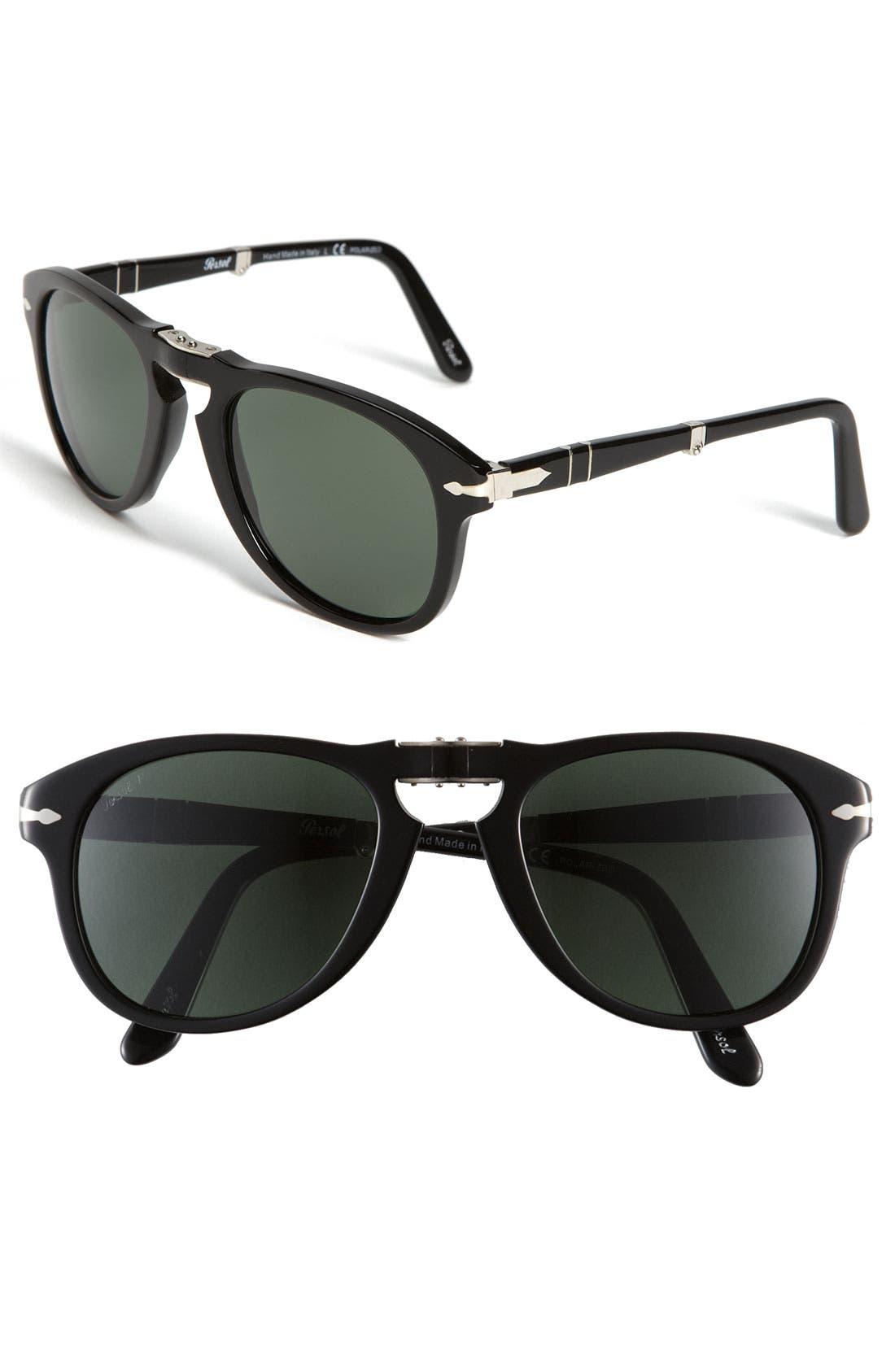 Alternate Image 1 Selected - Persol Folding Polarized Keyhole Sunglasses