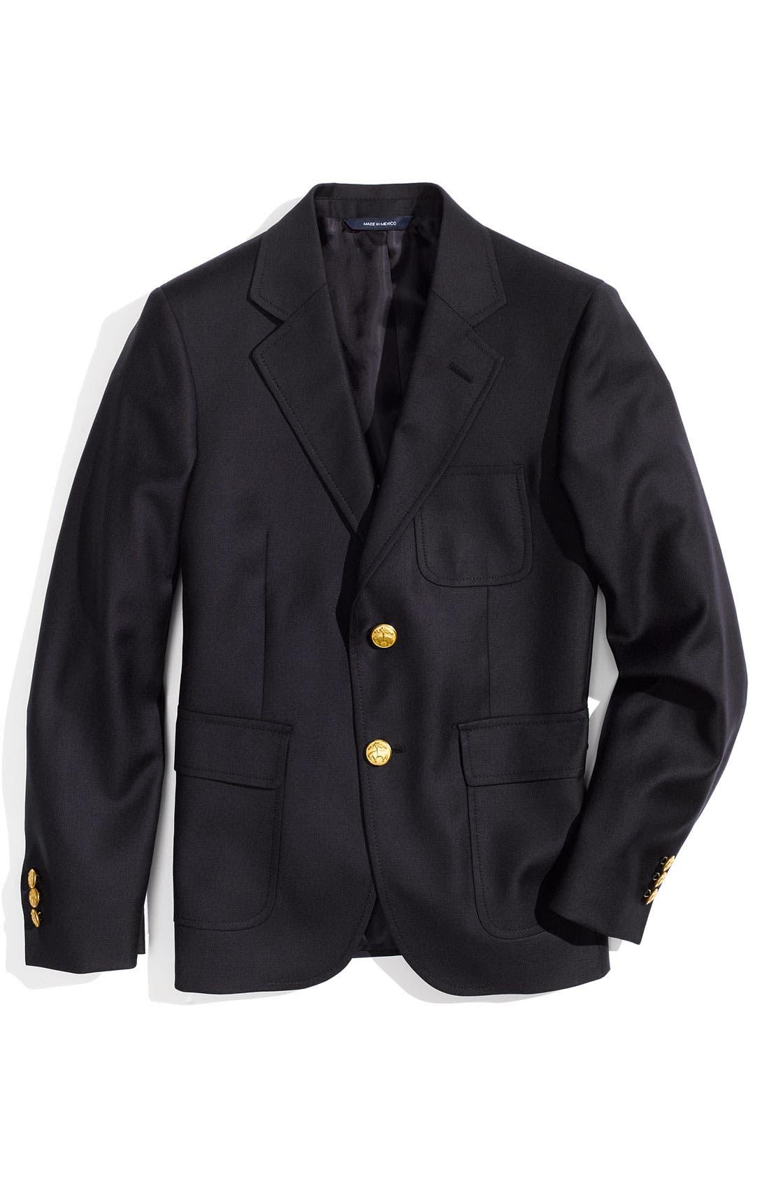 Alternate Image 1 Selected - Brooks Brothers Wool Blazer (Big Boys)